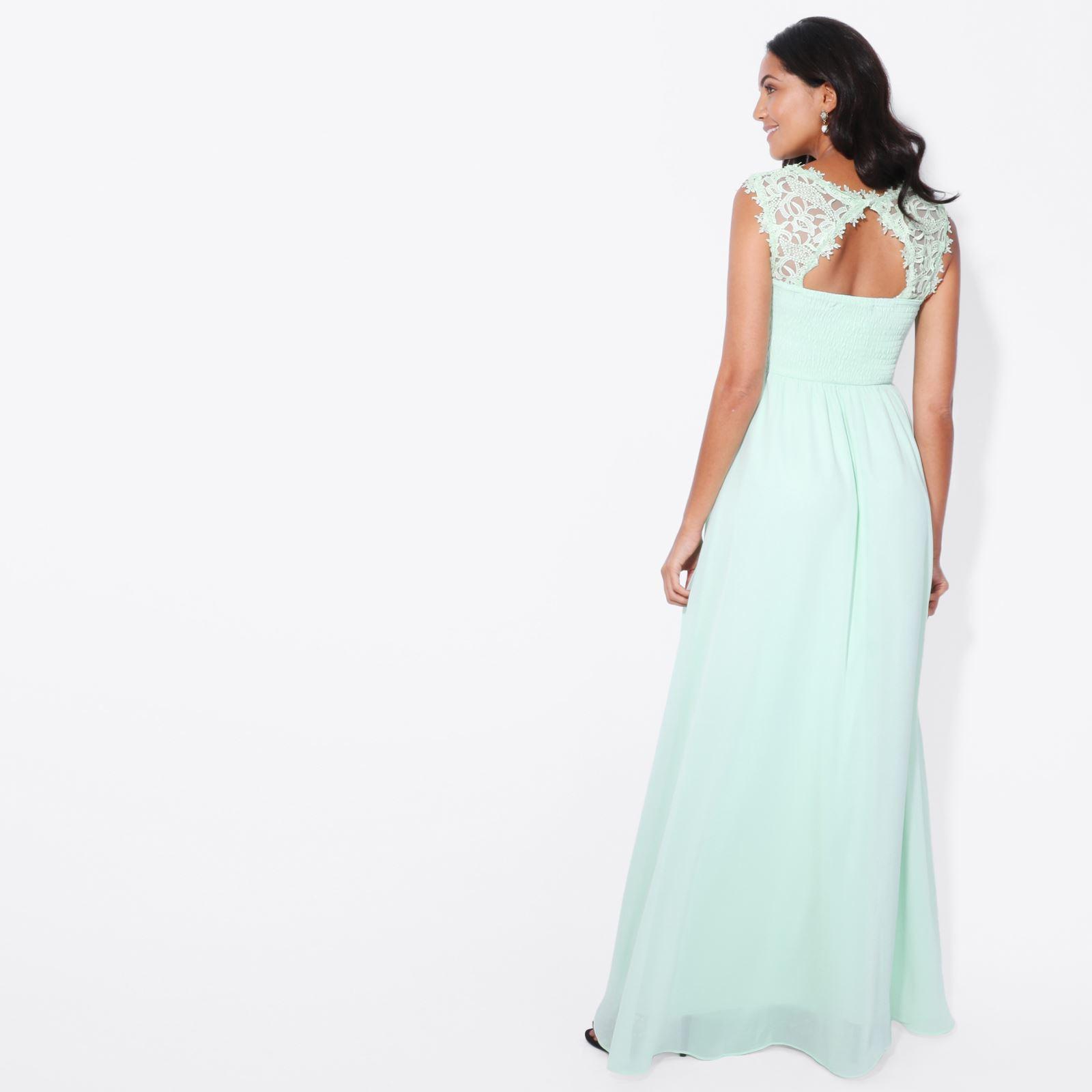 Womens-Wedding-Bridesmaid-Prom-Dress-Formal-One-Off-Shoulder-Long-Evening-8-18 thumbnail 35