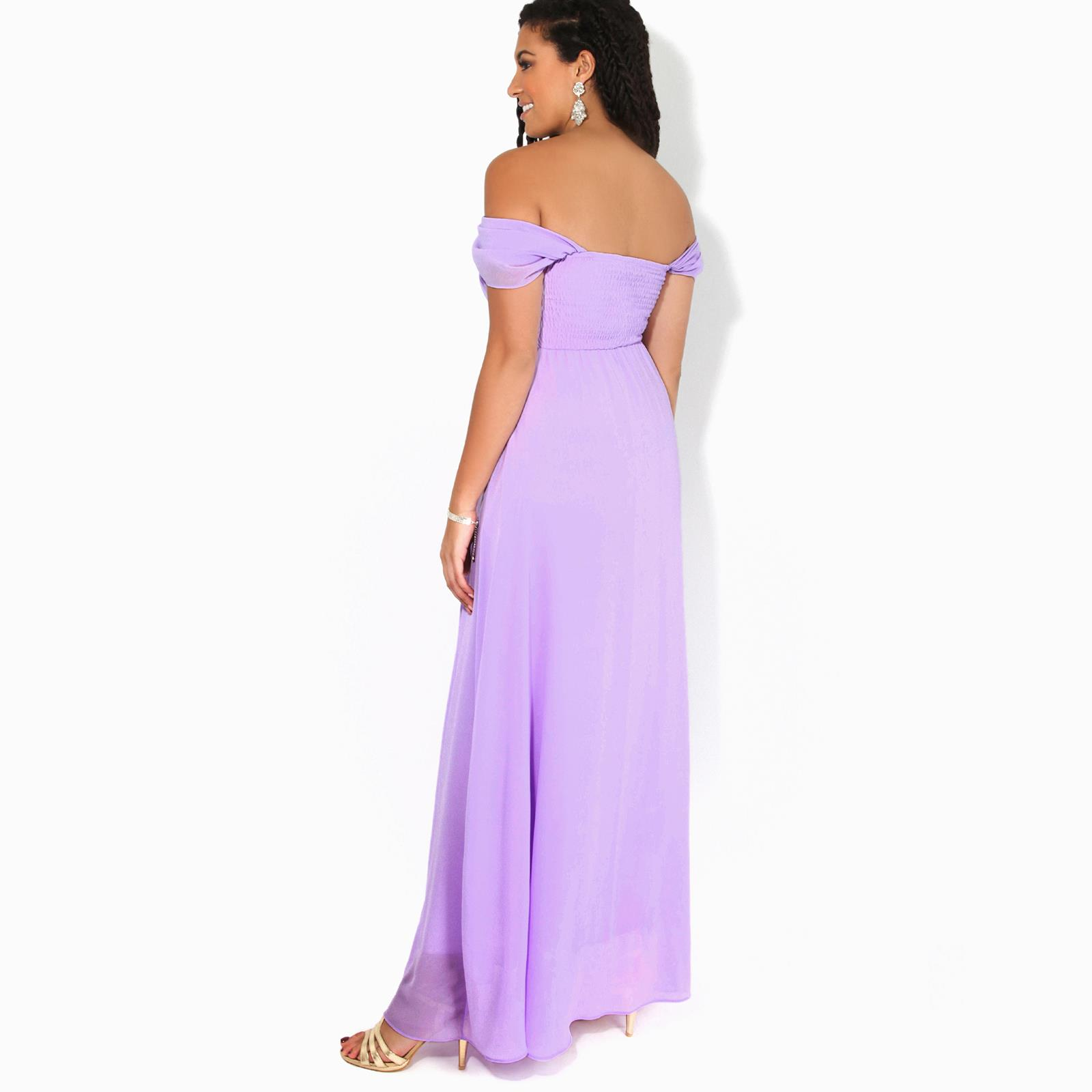 Womens-Formal-Evening-Wedding-Maxi-Prom-Dress-Long-On-Off-Shoulder-Ball-Gown thumbnail 29