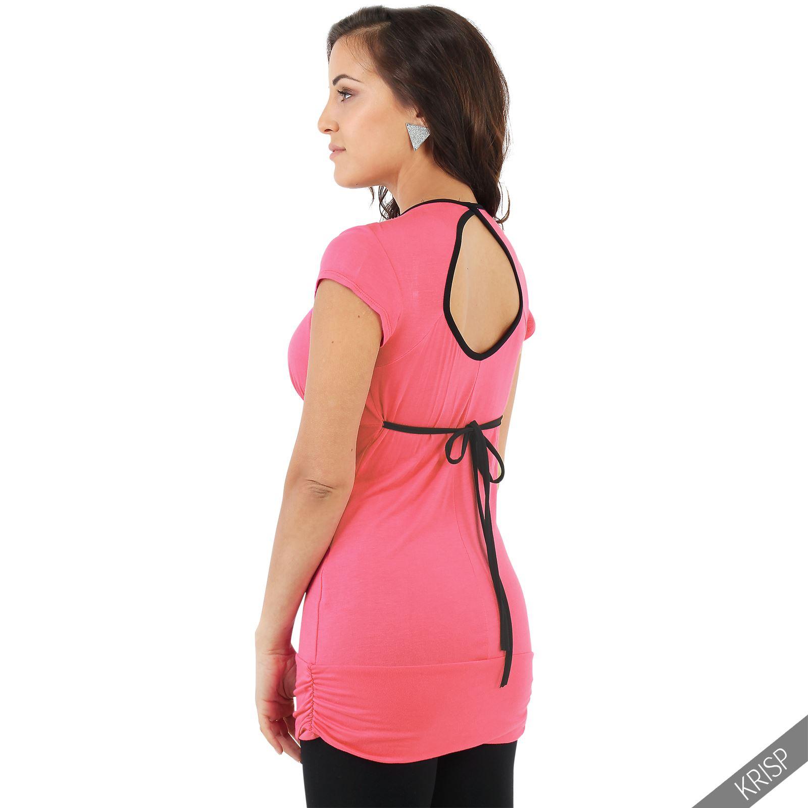 Haut à la coupe très féminine, délicatement ouvert dans le dos et noué au cou. Ce top peut se faire en version dos-nu ou plus sage avec un zip plus long qui recouvrira le passage de la lingerie.