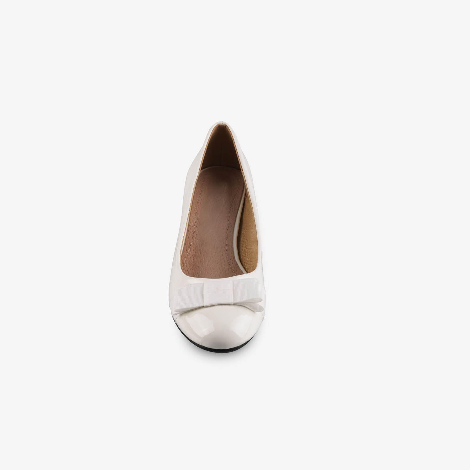 Damen-Elegante-Absatzschuhe-Hochlganz-Pumps-Blockabsatz-Ballerina-Schuhe-Chic Indexbild 30