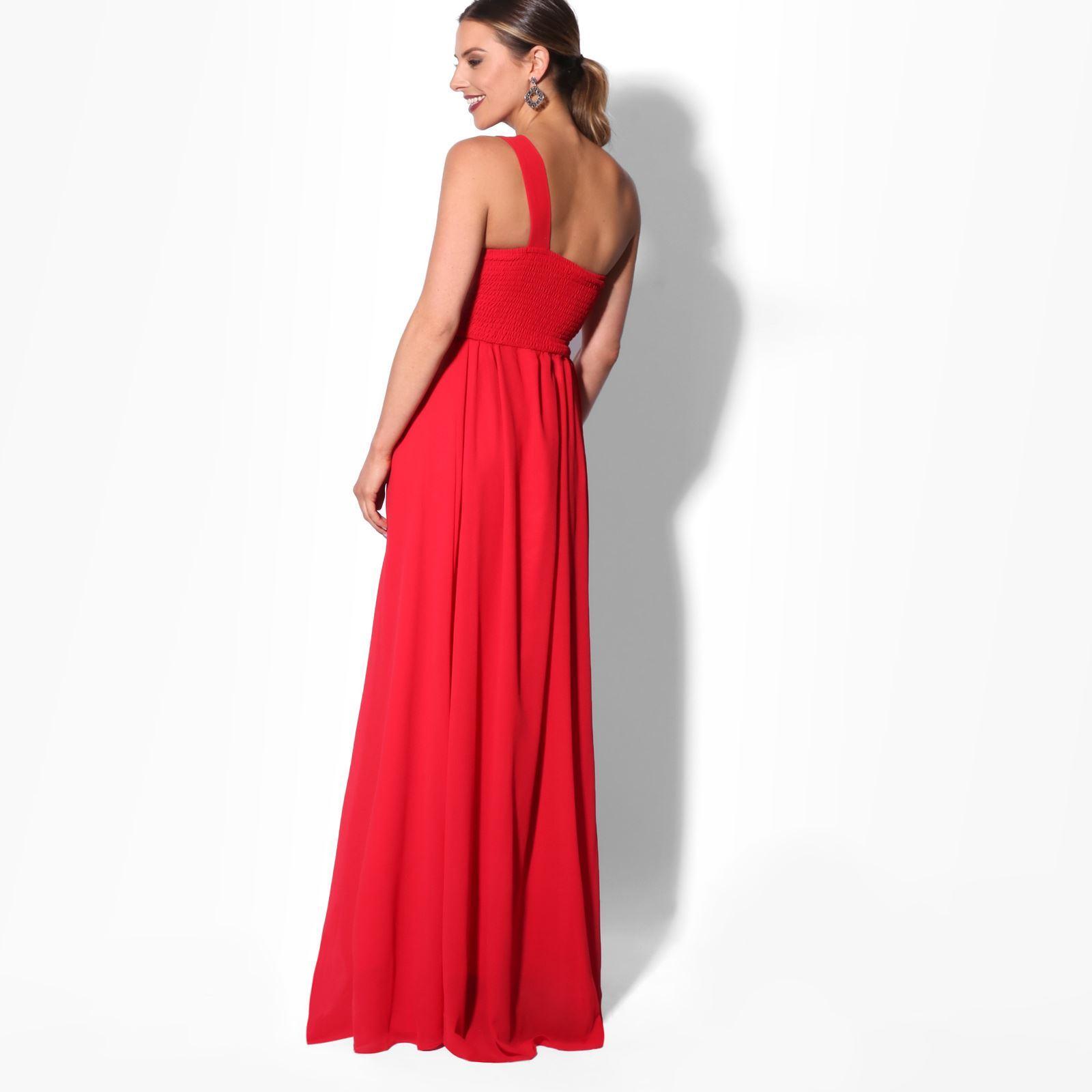 Womens-Wedding-Bridesmaid-Prom-Dress-Formal-One-Off-Shoulder-Long-Evening-8-18 thumbnail 55