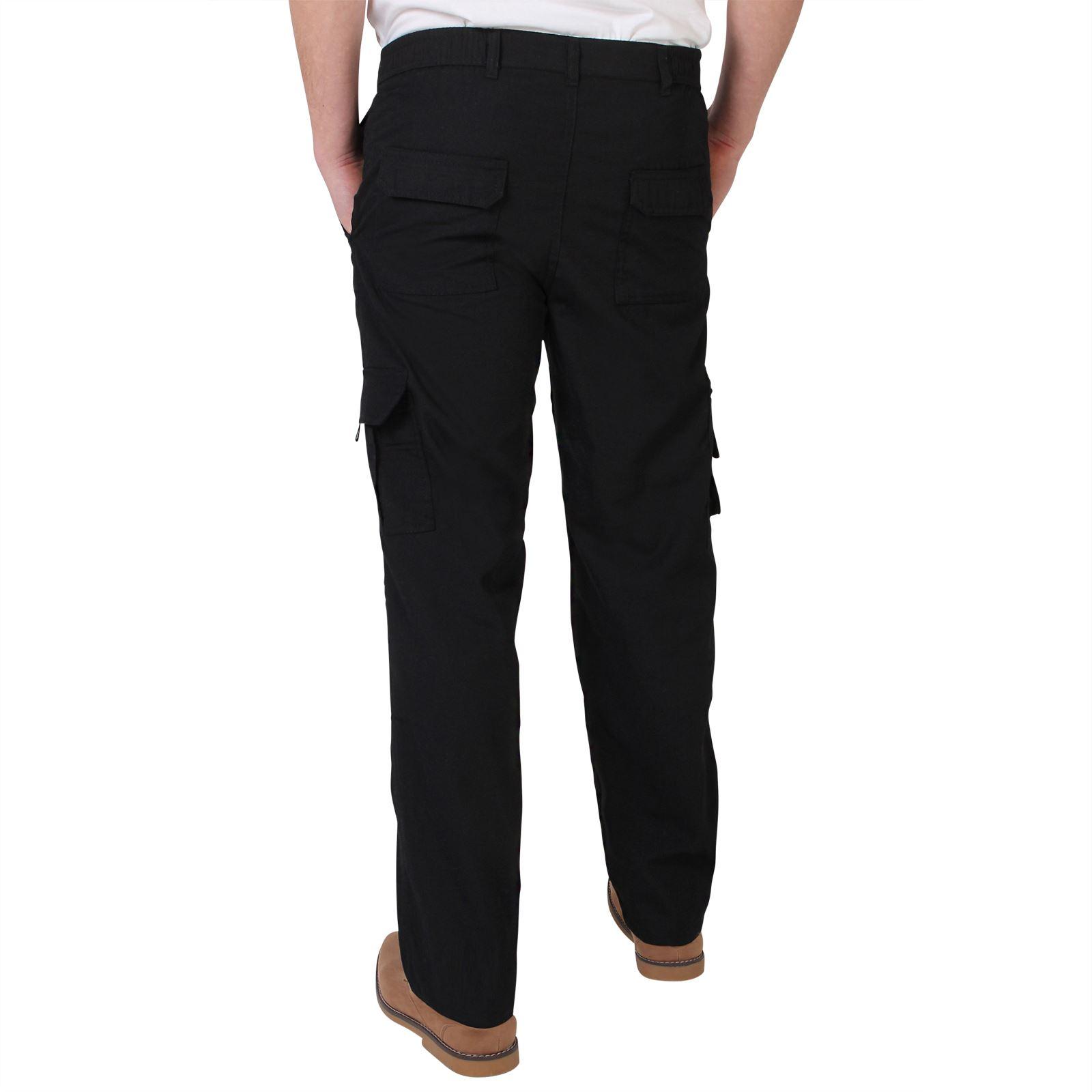 Pantalones-Hombre-Estilo-Cargo-Militar-Combate-Multibolsillos-Casual miniatura 28