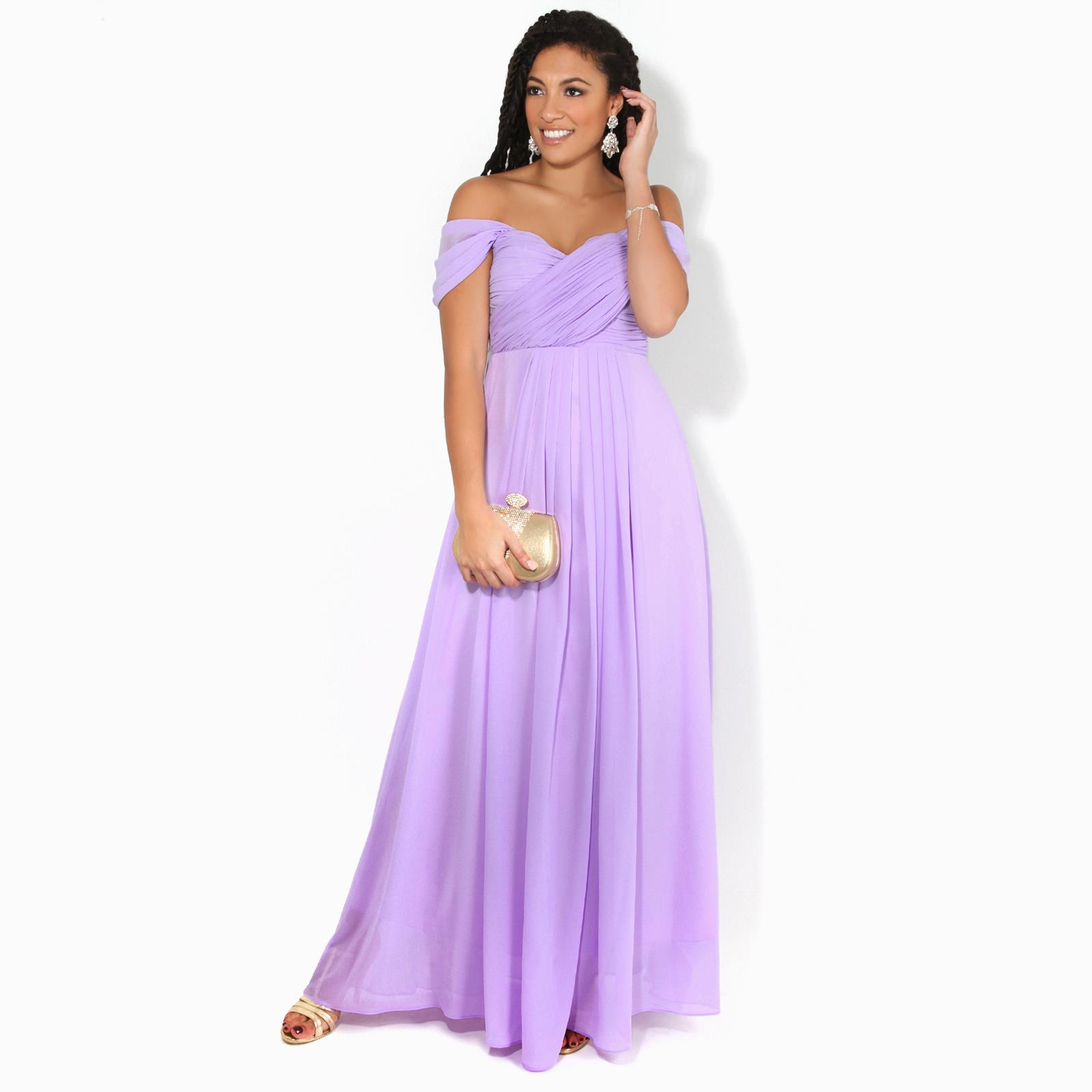 Womens-Formal-Evening-Wedding-Maxi-Prom-Dress-Long-On-Off-Shoulder-Ball-Gown thumbnail 30