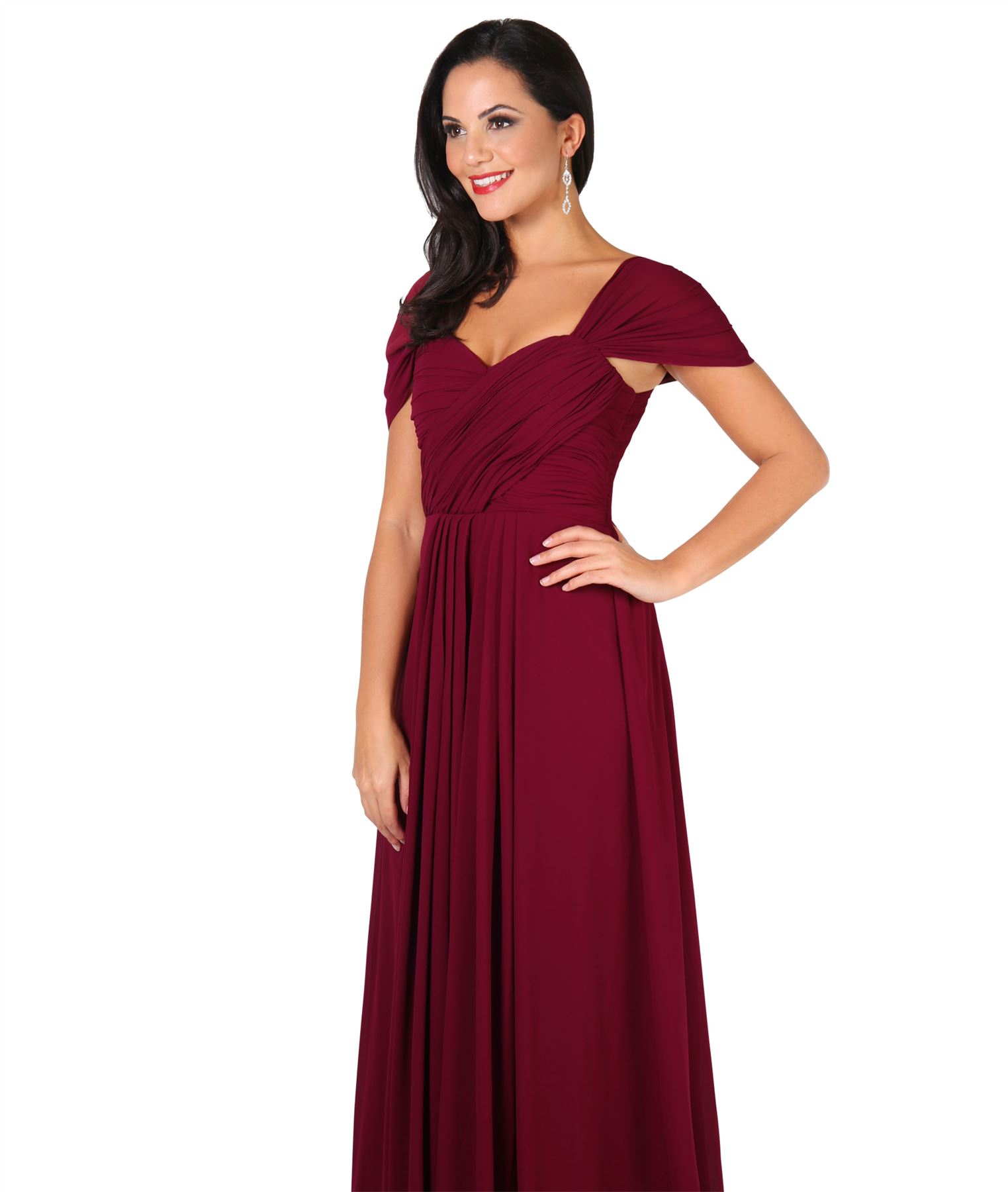 Womens-Formal-Evening-Wedding-Maxi-Prom-Dress-Long-On-Off-Shoulder-Ball-Gown thumbnail 65