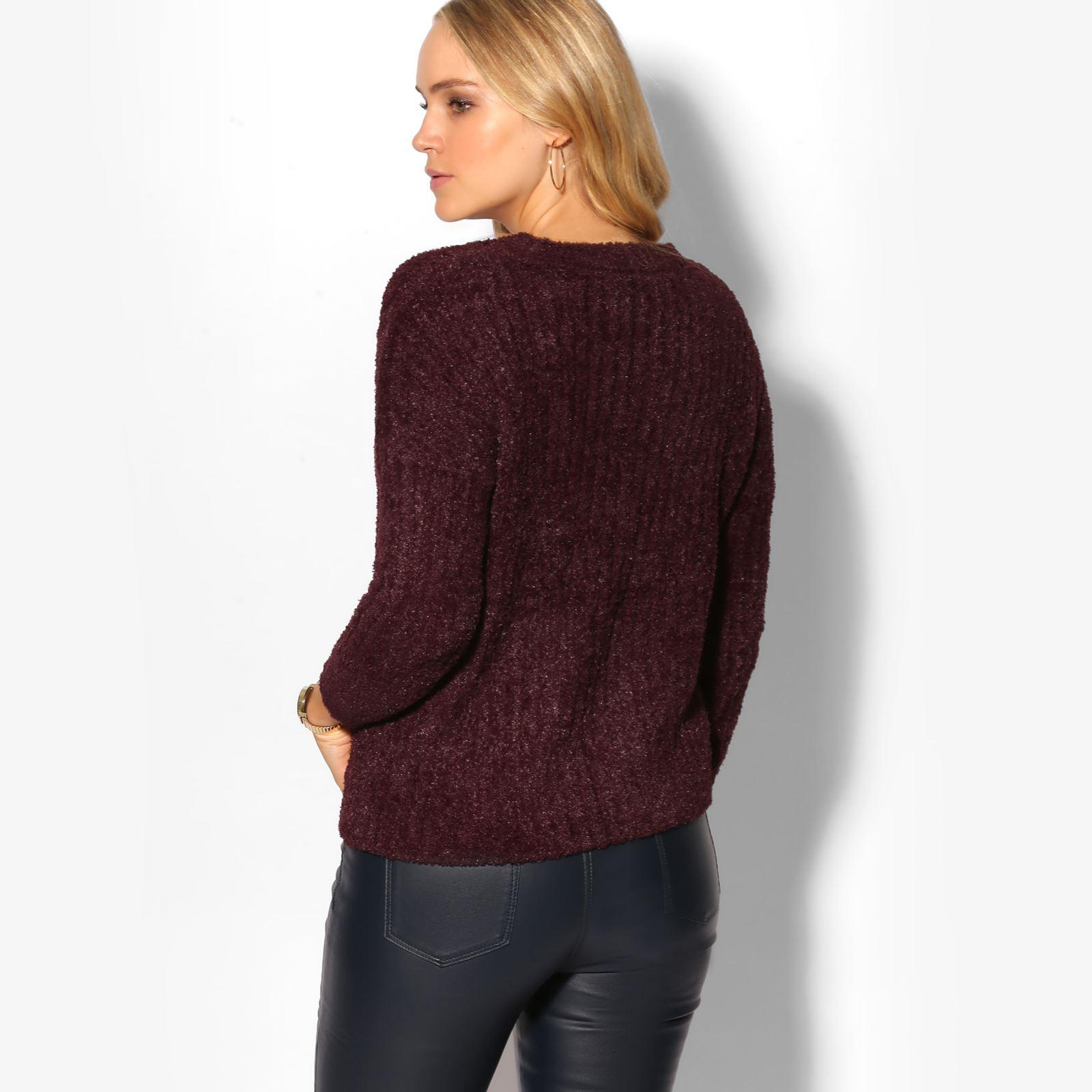 c335edadc2 Women Ladies Fluffy Knit Long Sleeve Xmas Jumper Winter Sweater ...