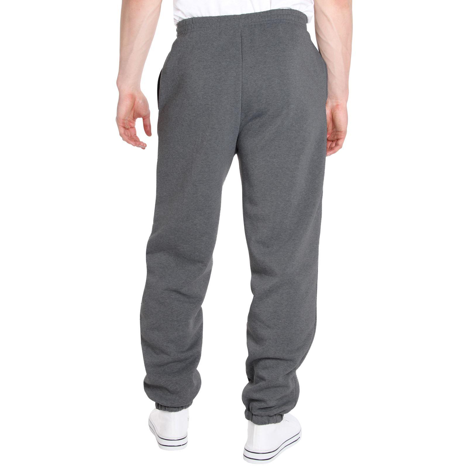 Homme-Pantalon-Double-Polaire-Survetement-Bas-Jogging-Decontracte-Sport-Gym miniature 9