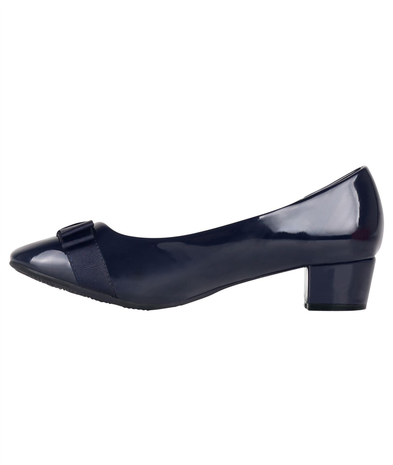 Damen-Elegante-Absatzschuhe-Hochlganz-Pumps-Blockabsatz-Ballerina-Schuhe-Chic Indexbild 21