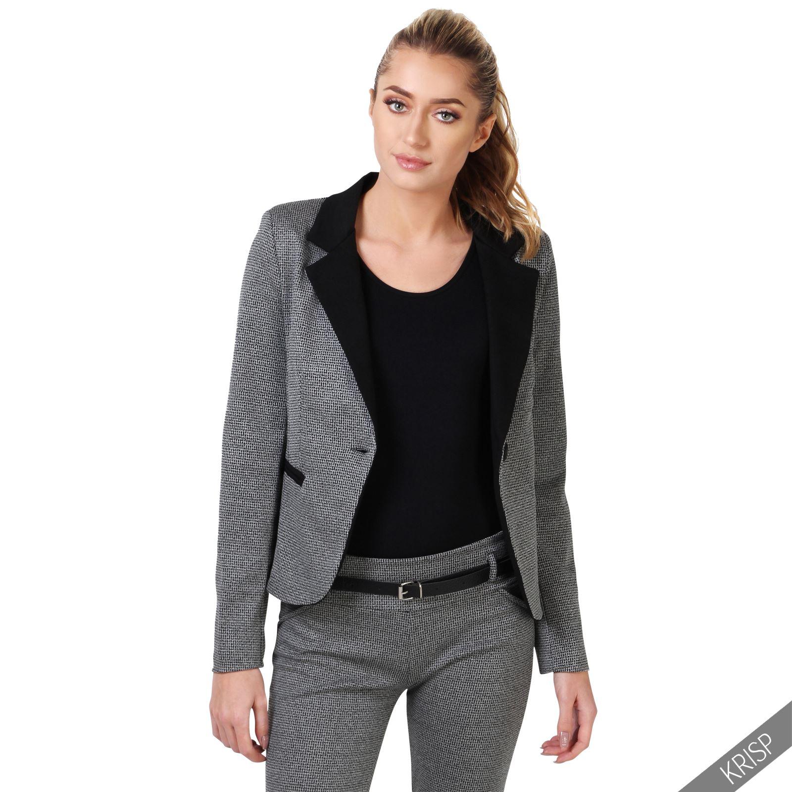 Ladies Womens Fashion Trousers Blazer Jacket Suit 2 Piece ...