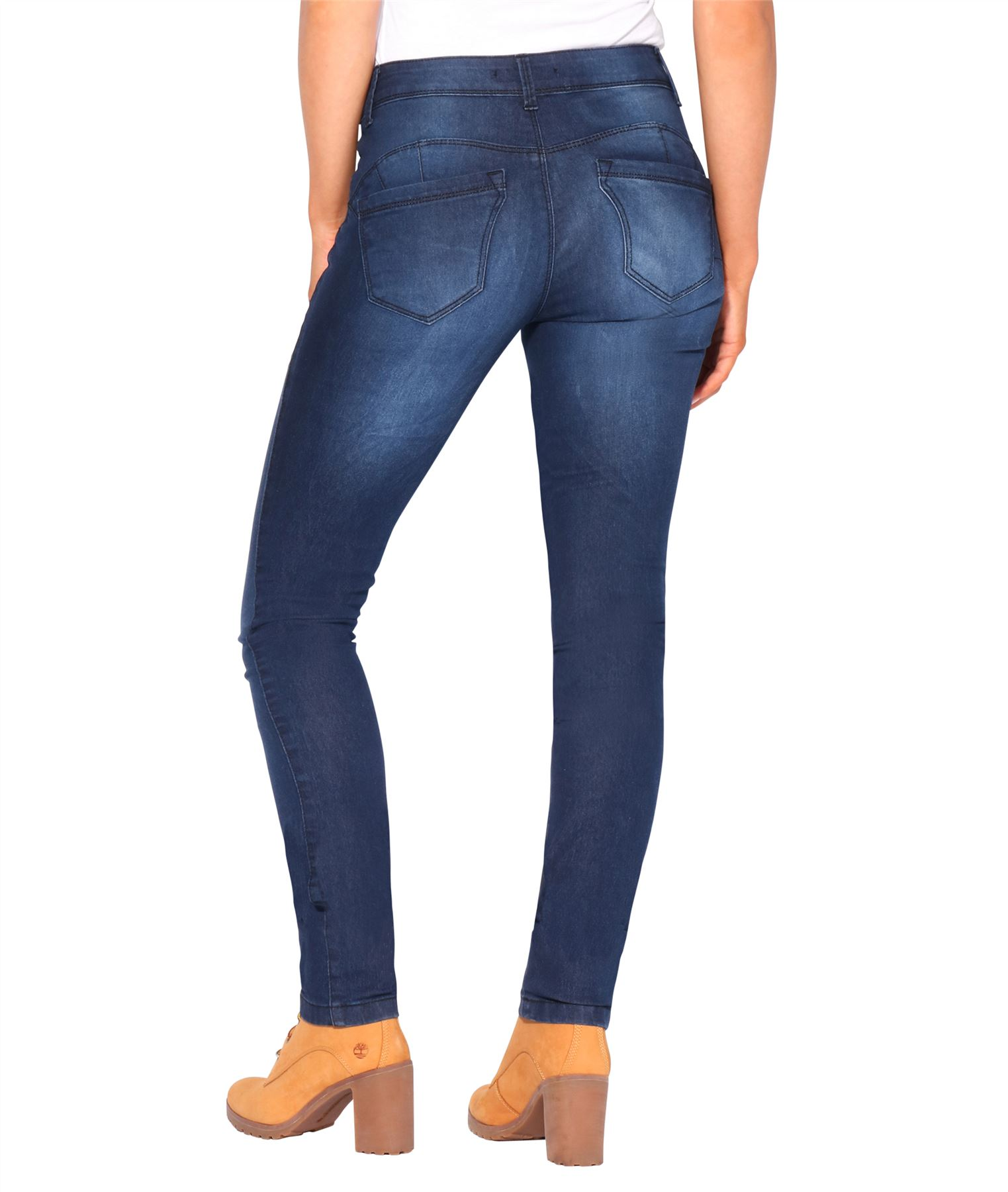 RRP £45 Womens Grey Lift slim and shape Skinny Jeans Flattering Style Denim