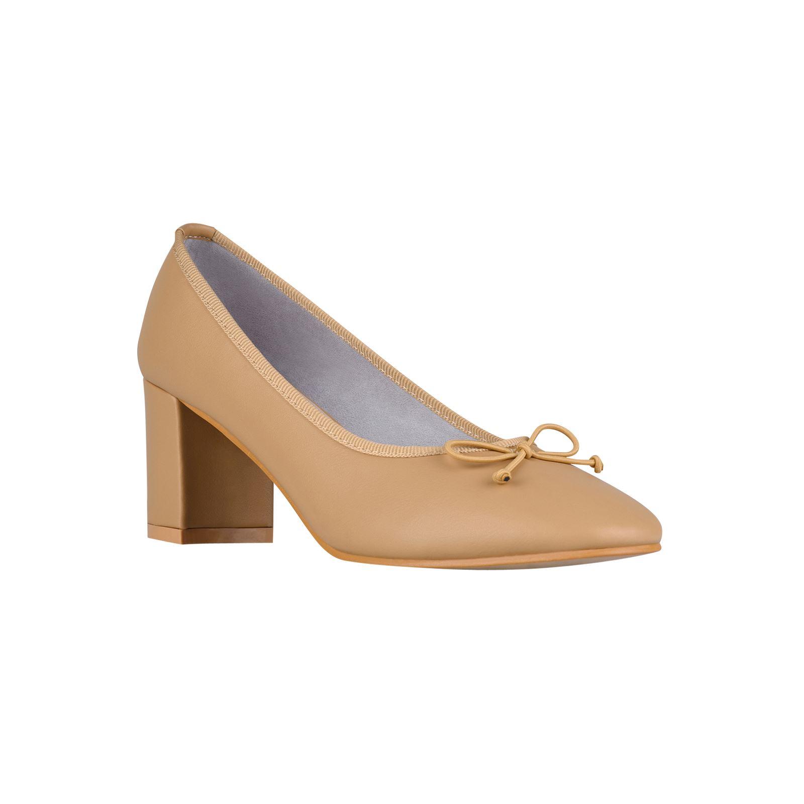 71ceef94058 Womens Low Mid Block Heel Courts Ladies Work Shoes Party Ballerina ...