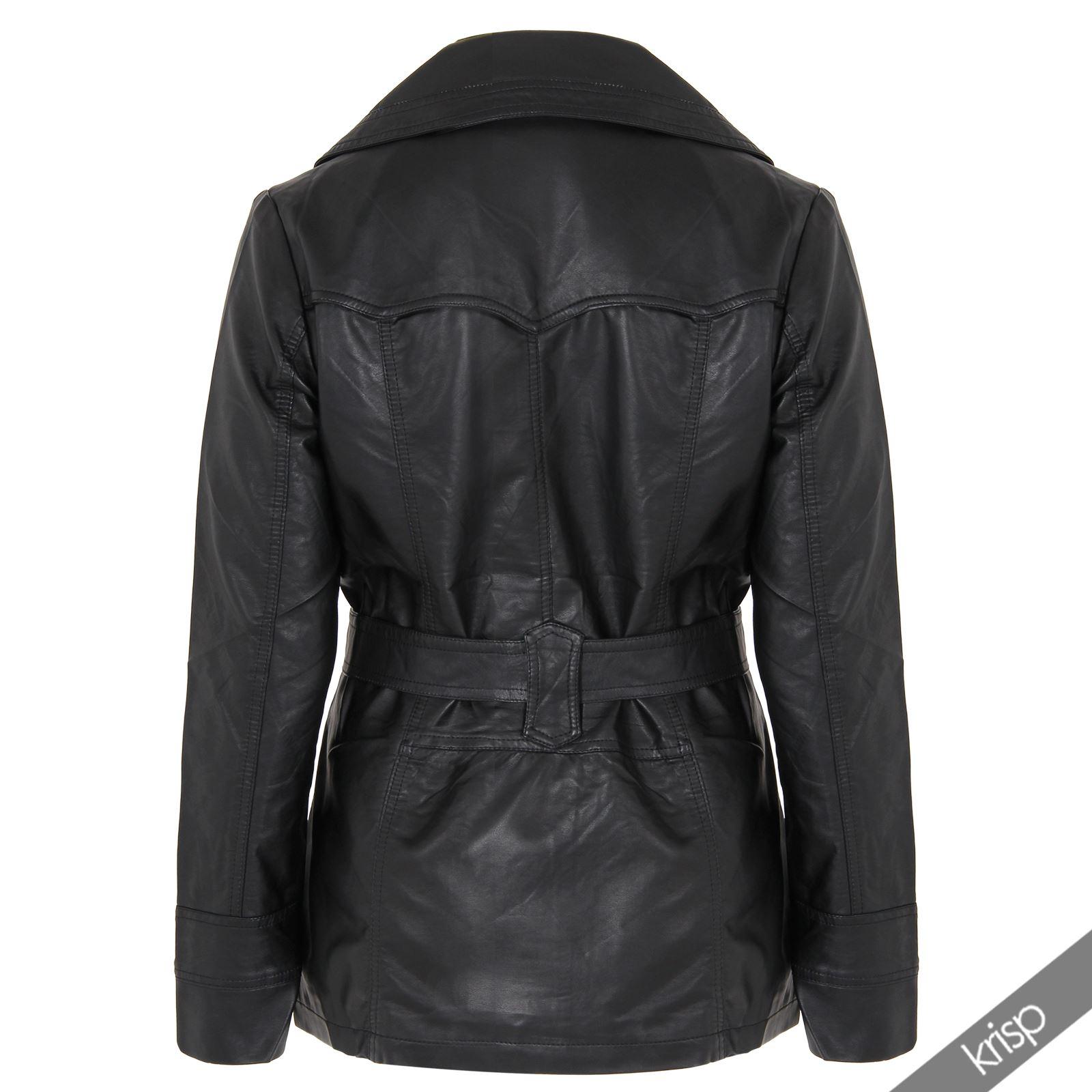 damen leder mantel vintage jacke gr 46 48 50 52 plus size. Black Bedroom Furniture Sets. Home Design Ideas