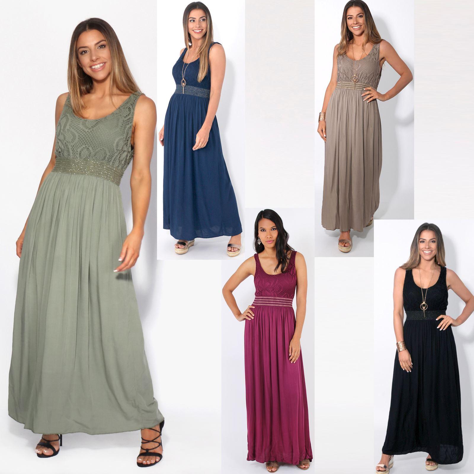 bodenlanges kleid damen
