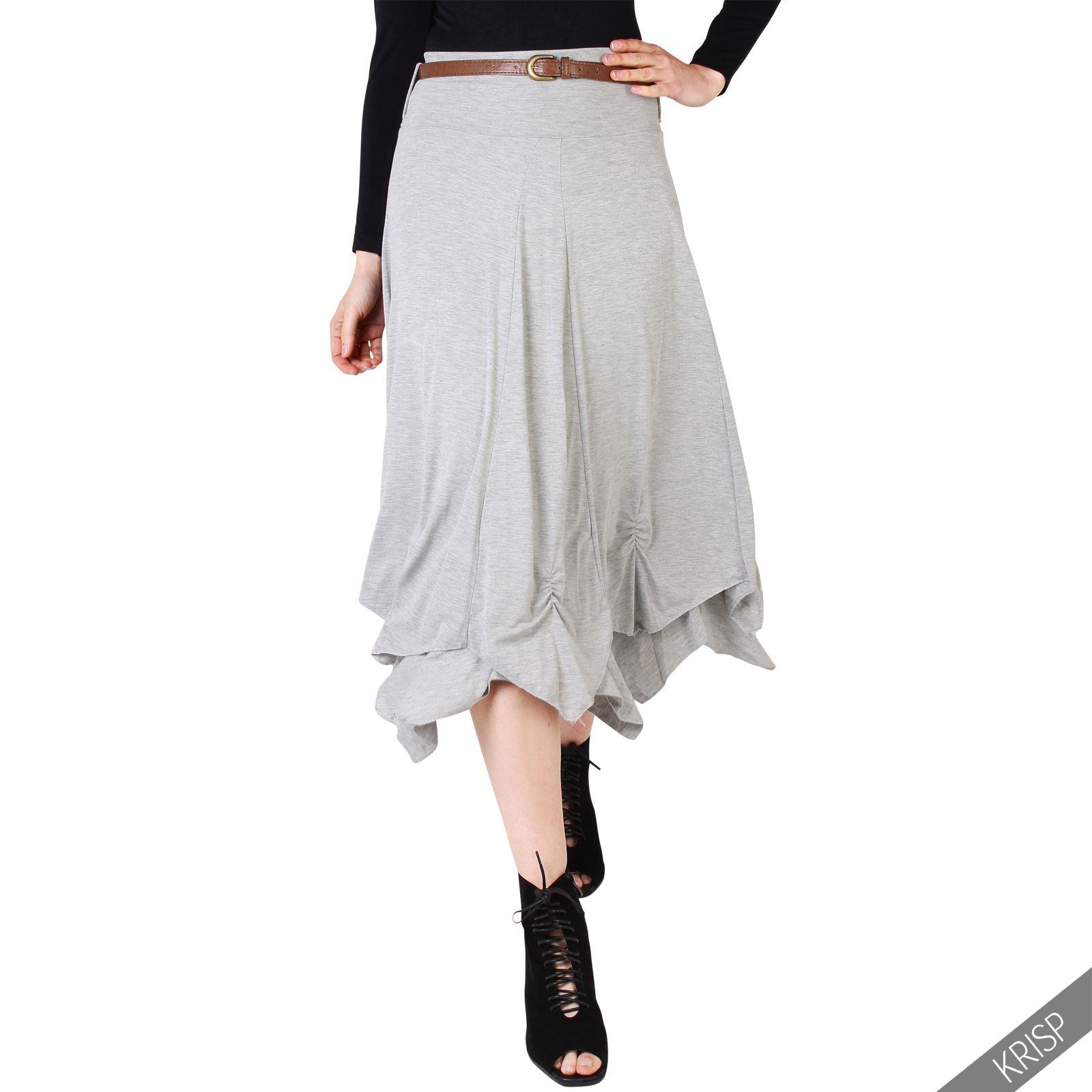 krisp femme jupe maxi lastique hippie longue boho taille 36 38 40 42 44 46 48 ebay. Black Bedroom Furniture Sets. Home Design Ideas