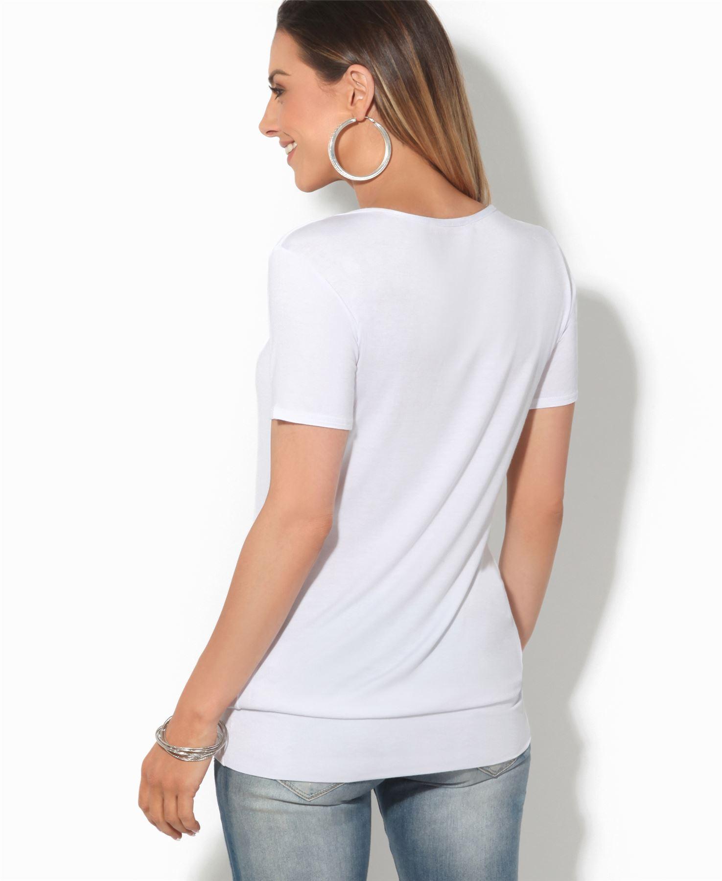 Femmes-Top-Haut-Chemisier-T-Shirt-Chemise-Blouse-Tunique-Long-Grandes-Tailles miniature 3
