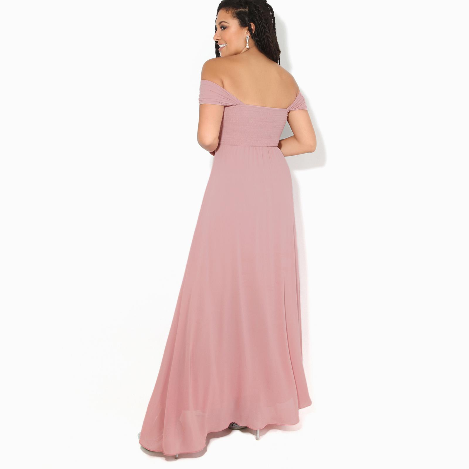Womens-Formal-Evening-Wedding-Maxi-Prom-Dress-Long-On-Off-Shoulder-Ball-Gown thumbnail 24