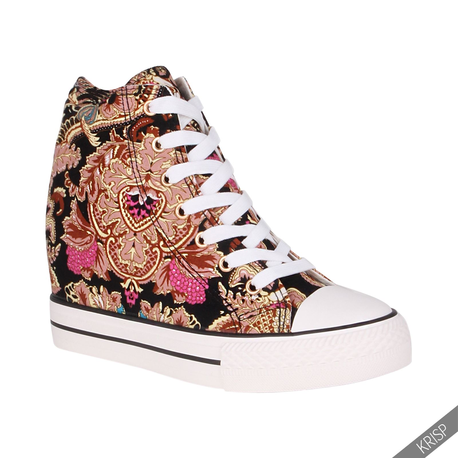 Womens High Top Sneakers With Heels