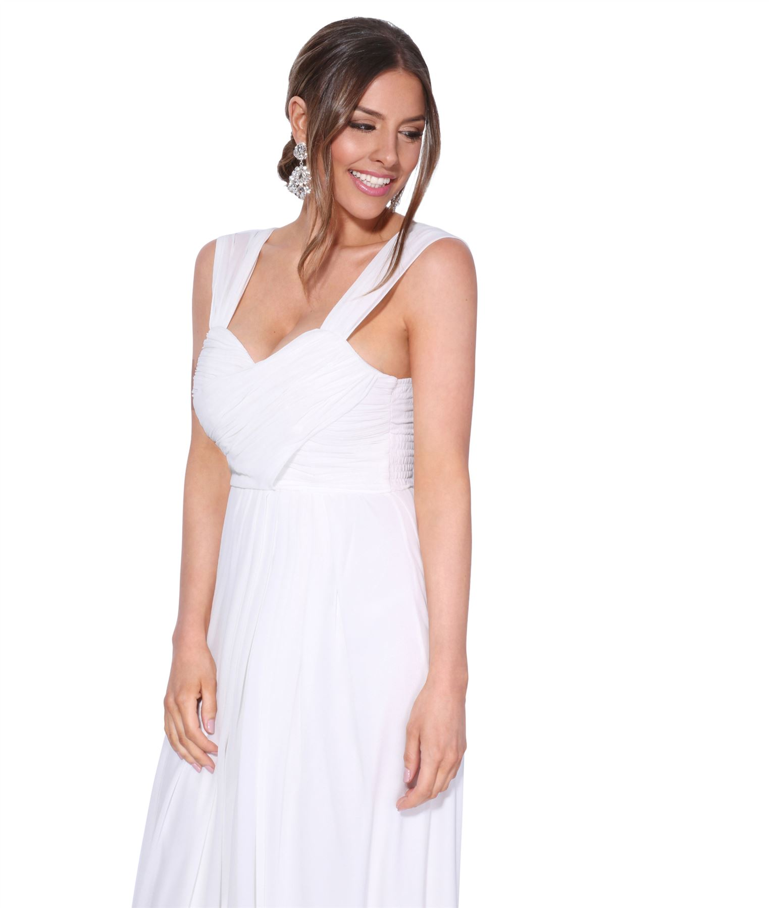 Womens-Formal-Evening-Wedding-Maxi-Prom-Dress-Long-On-Off-Shoulder-Ball-Gown thumbnail 62