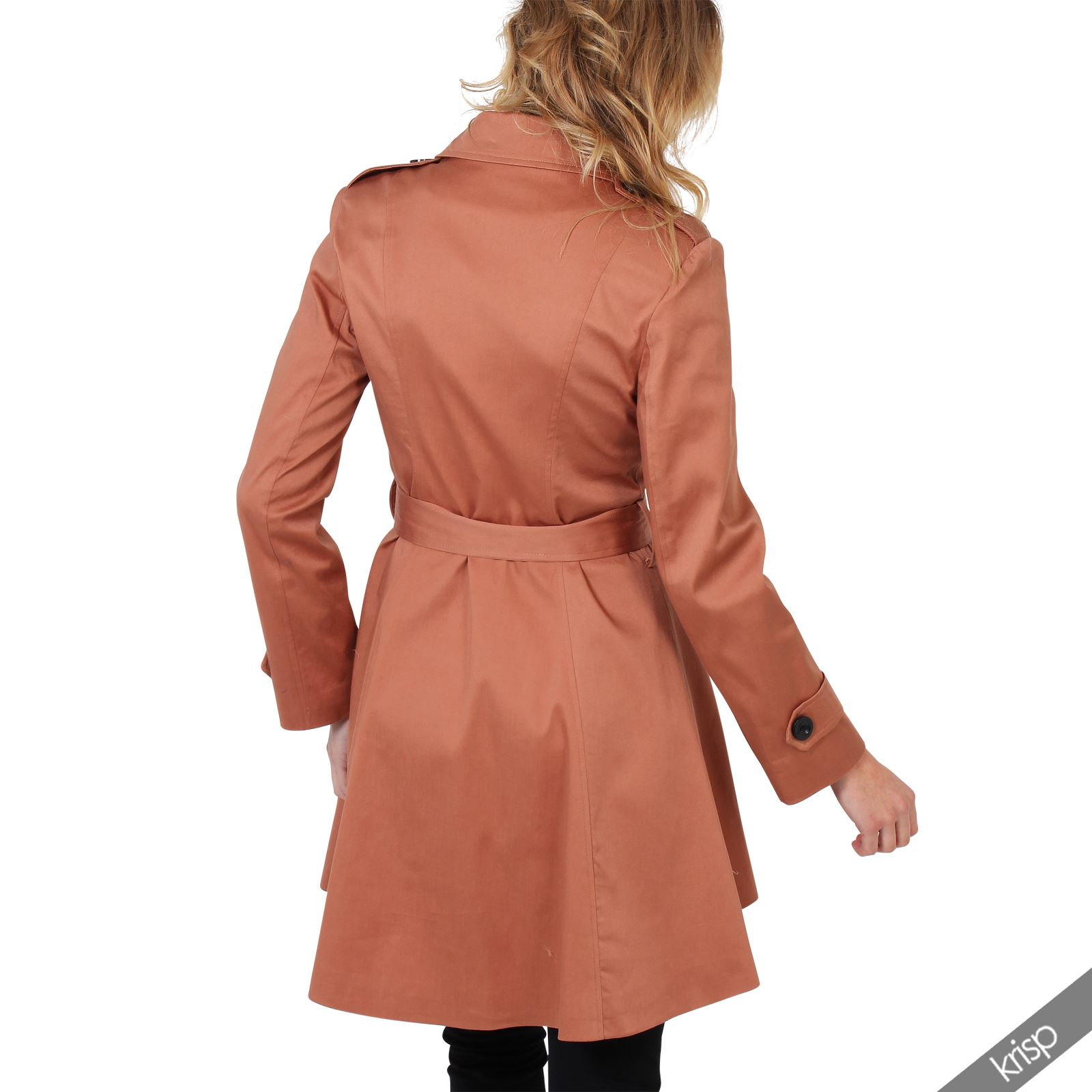 UK-Ladies-Classic-Asymmetric-Mac-Jacket-Womens-Military-Belted-Trench-Coat thumbnail 14