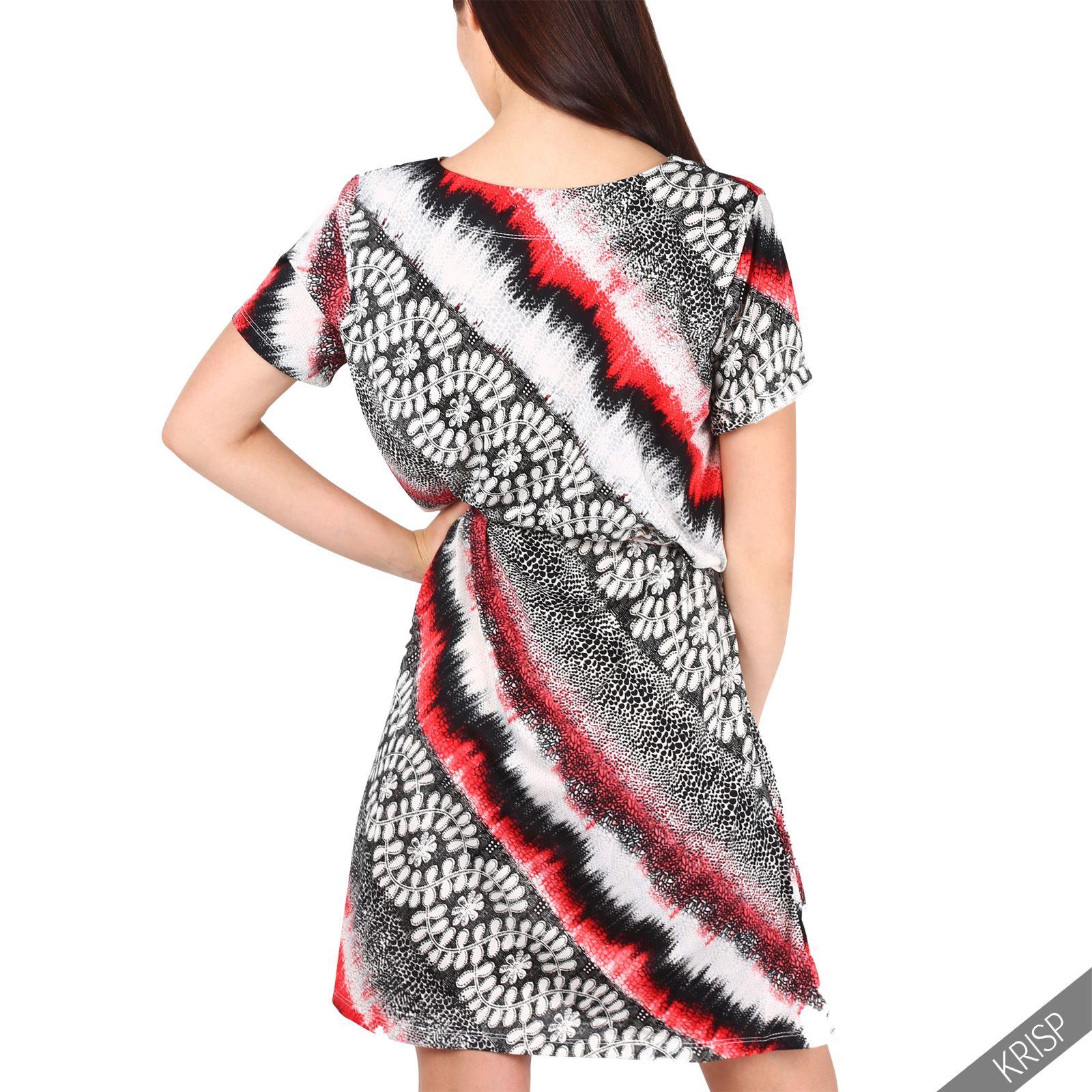 Vestido-Mujer-Corto-Estampado-Verano-2017-Camiseta-Casual-Juvenil-Joven-Colores