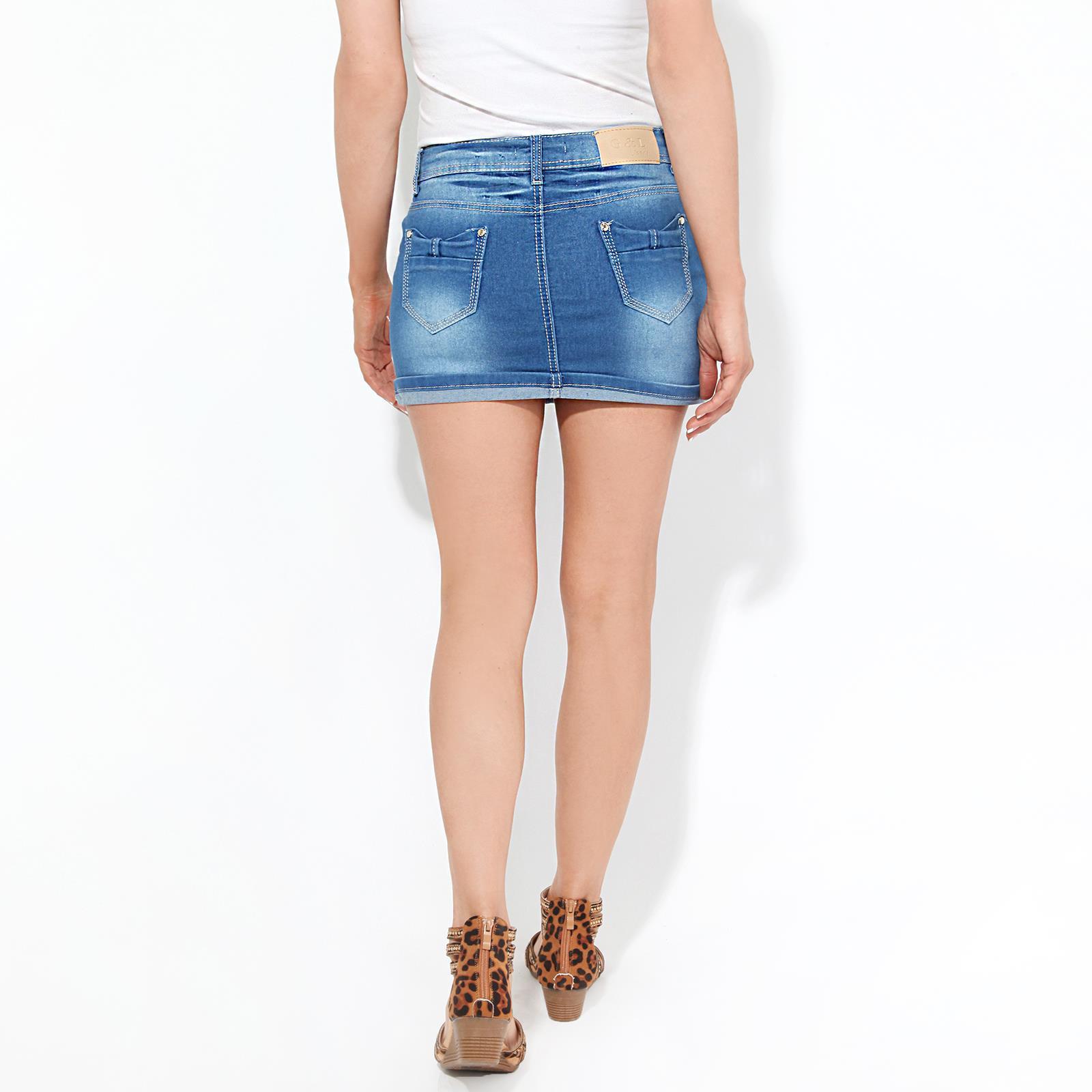 Micro-Mini-Jupe-Femme-Sexy-Courte-Moulante-Grandes-Tailles-Crayon-Bleu-Pas-Cher miniature 3