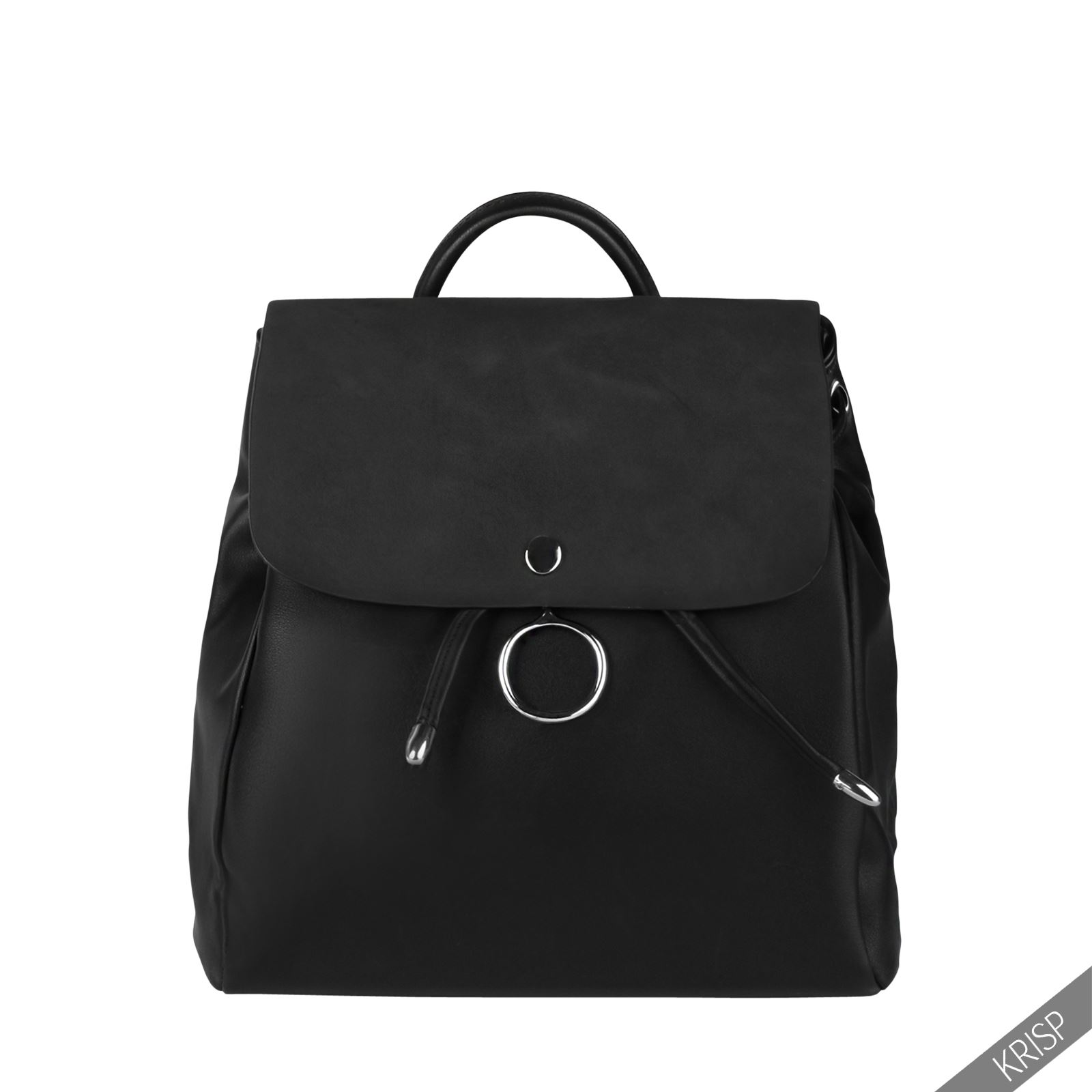Krisp mochila negra bolso vestir elegante joven juvenil for Mochila oficina