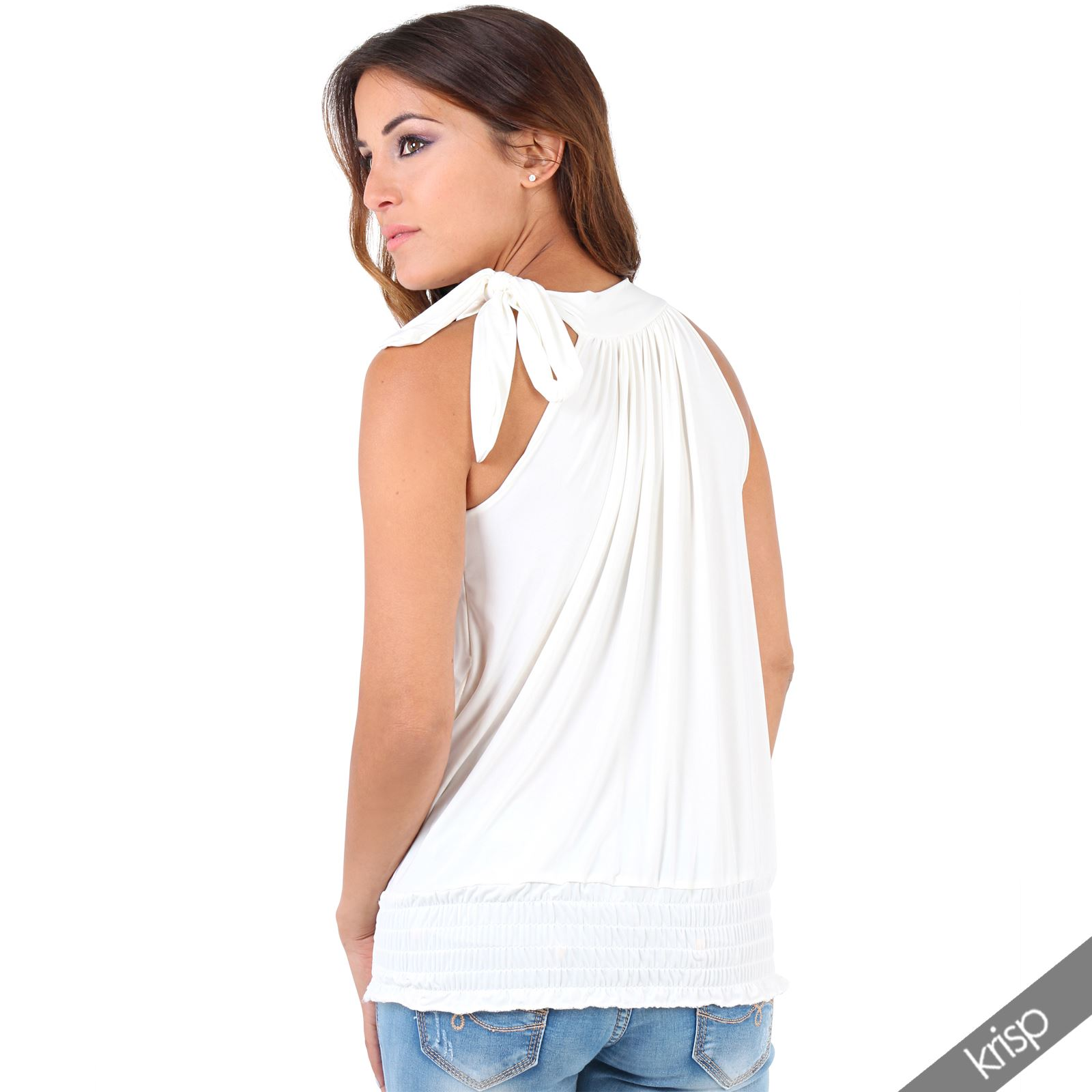Womens-Ladies-Sleeveless-Blouse-Halter-Neck-Vest-Top-Party-T-Shirt-Plus-Size thumbnail 10