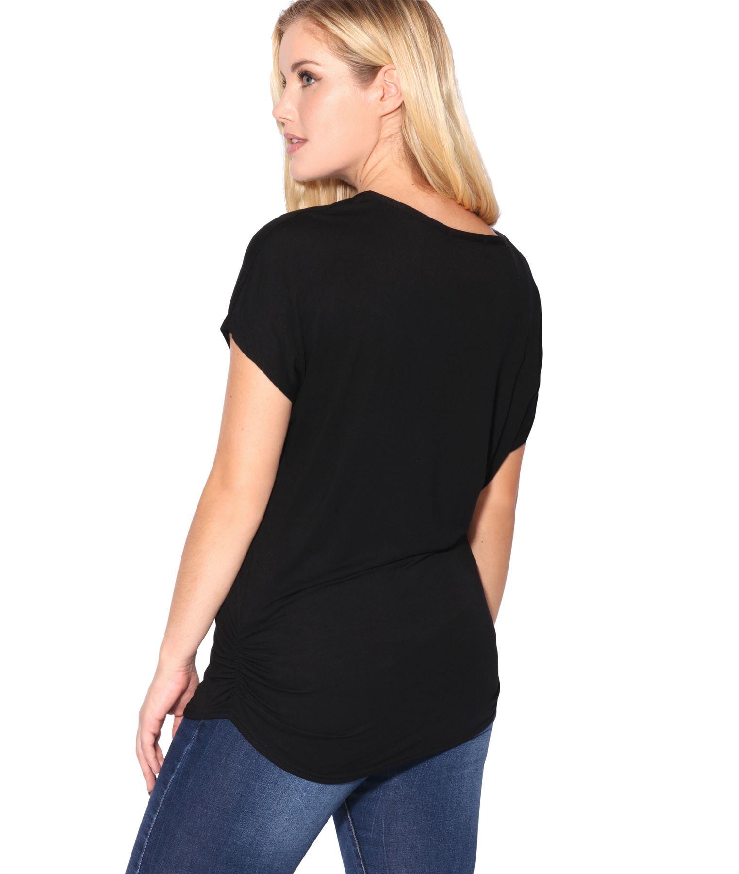 Womens-Oversized-Batwing-T-Shirt-Ladies-Baggy-Animal-Tiger-Blouse-Print-Top thumbnail 5