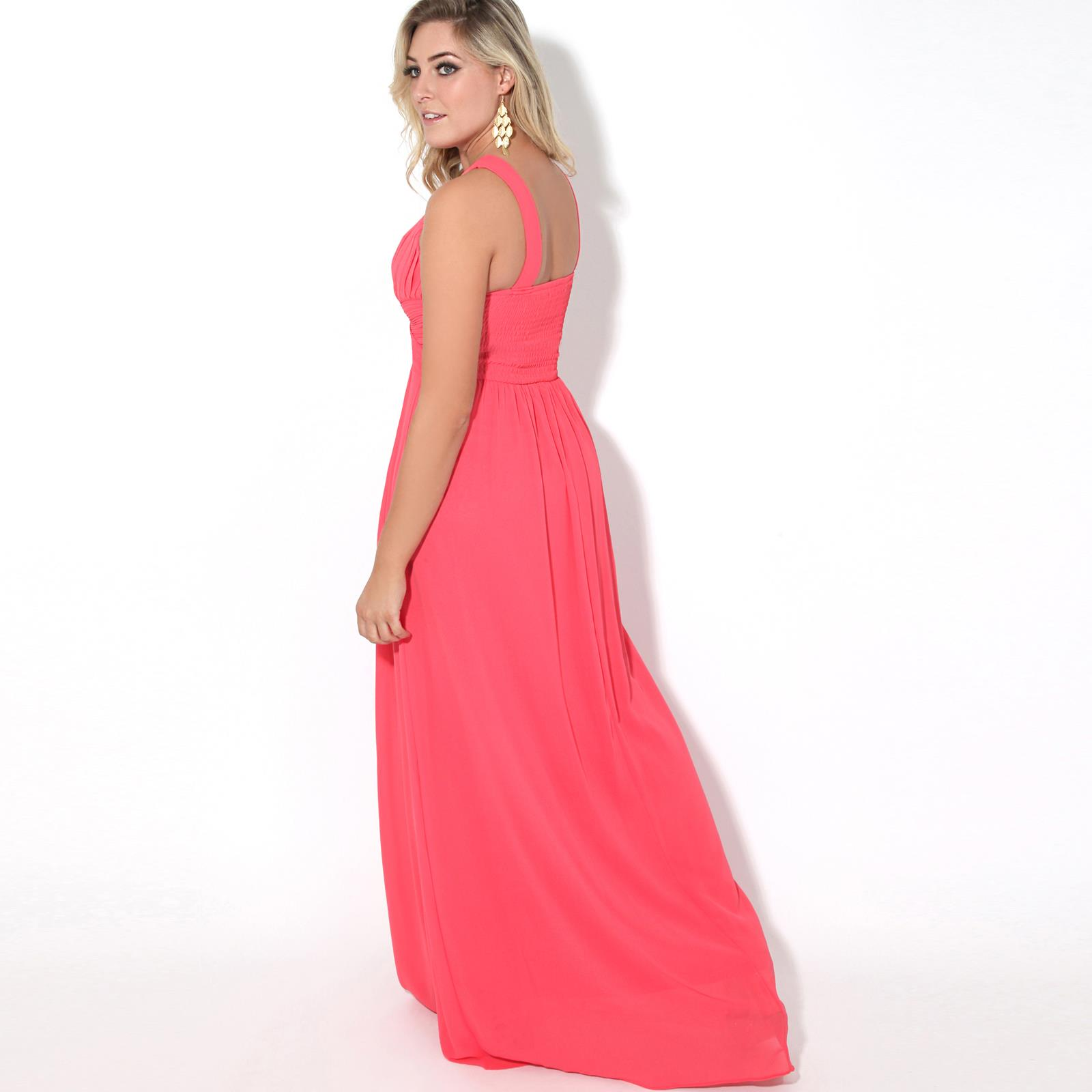 Women-Ladies-Long-Cocktail-Wedding-Bridesmaid-Evening-Maxi-Dress-Formal-Gown thumbnail 8