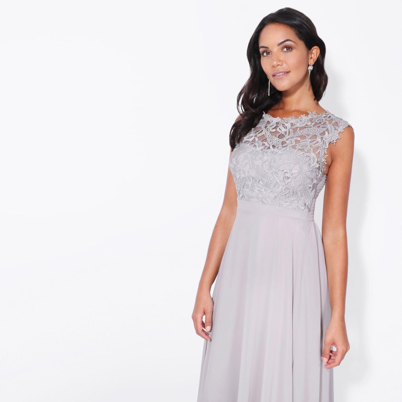Womens-Wedding-Bridesmaid-Prom-Dress-Formal-One-Off-Shoulder-Long-Evening-8-18 thumbnail 28