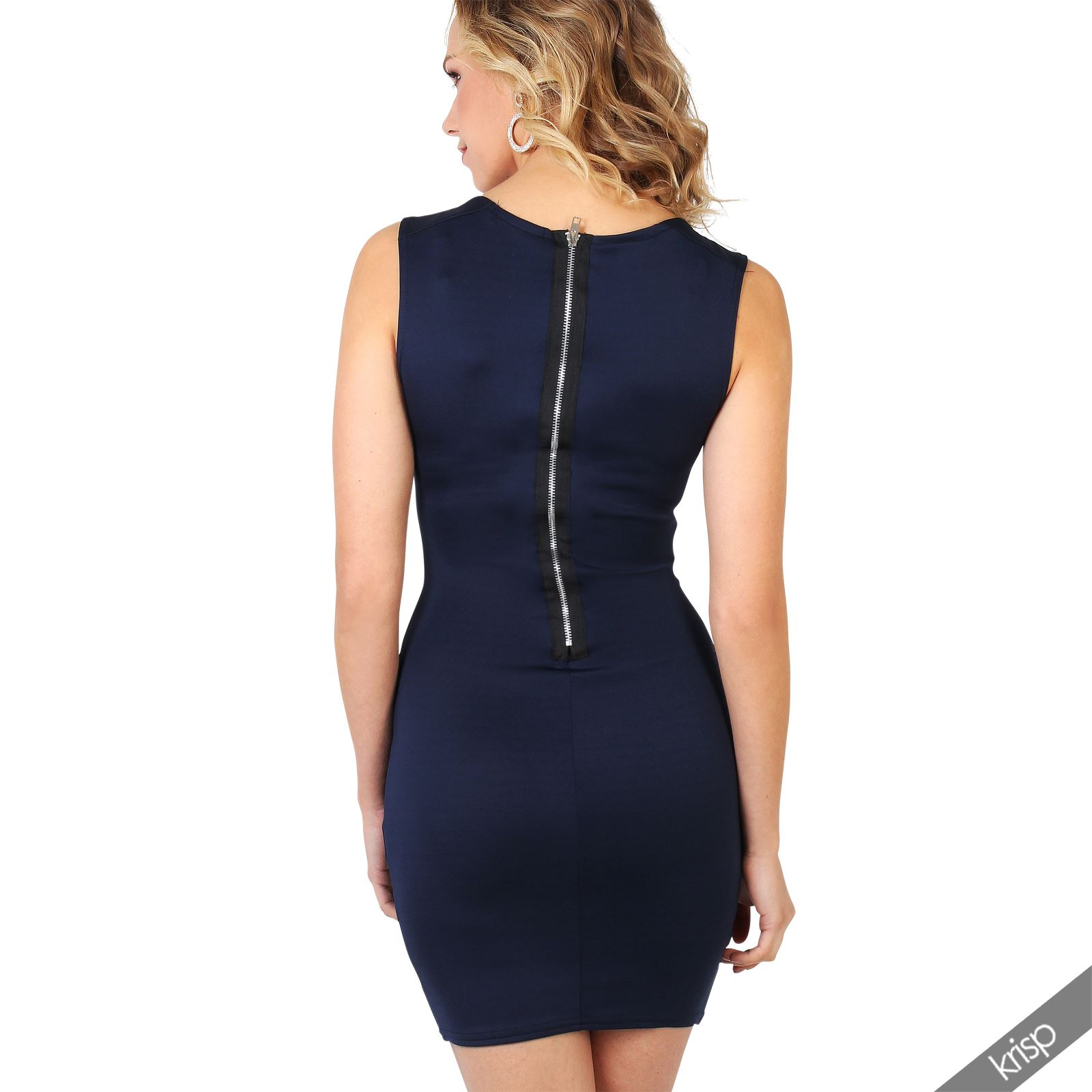 Ladies-Fashion-Bodycon-Dress-Sleeveless-Backless-Party-Fitted-Cocktail-Pencil thumbnail 10
