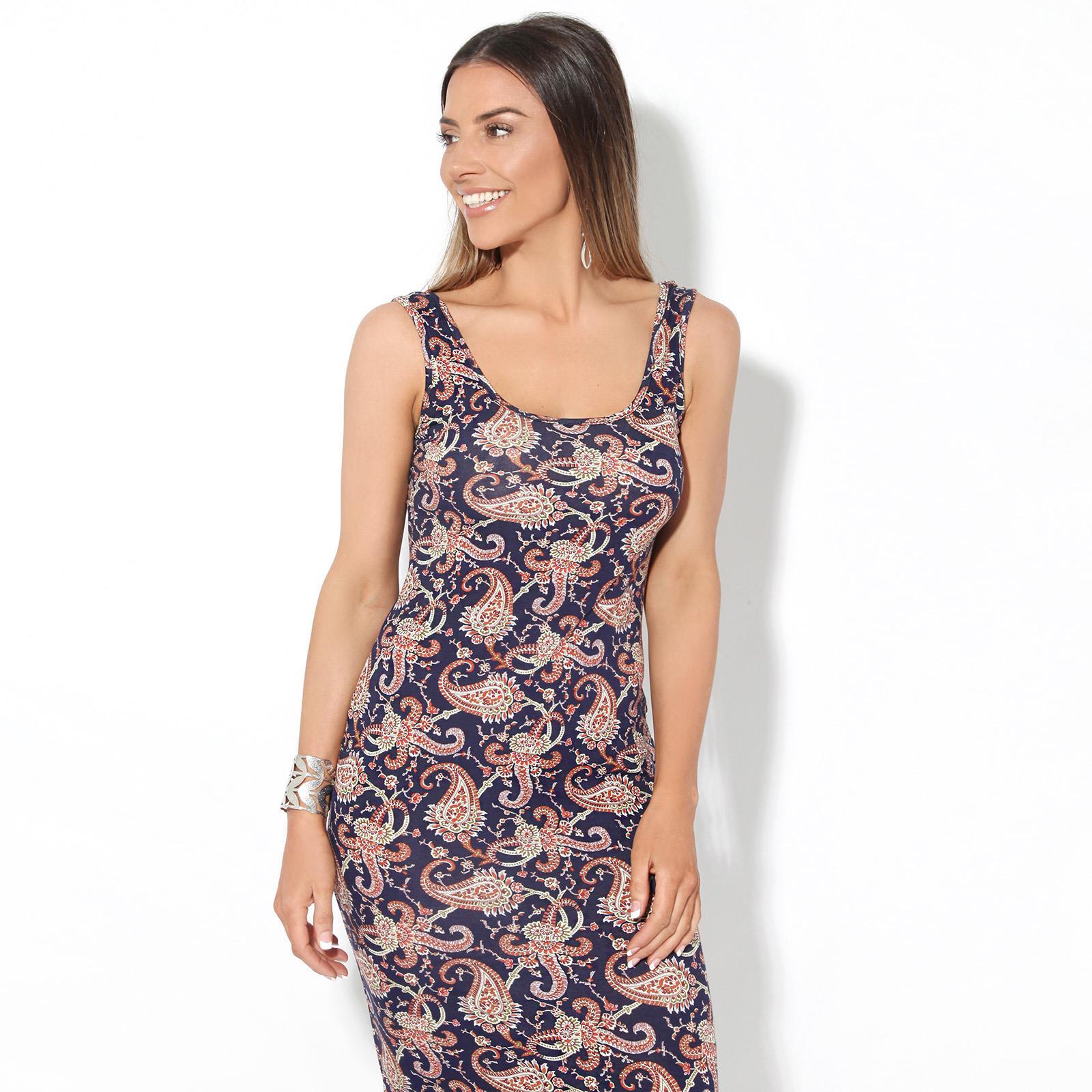 Womens-Ladies-Floral-Bodycon-Maxi-Long-Sun-Dress-Sleeveless-Pattern-Summer-Beach thumbnail 6