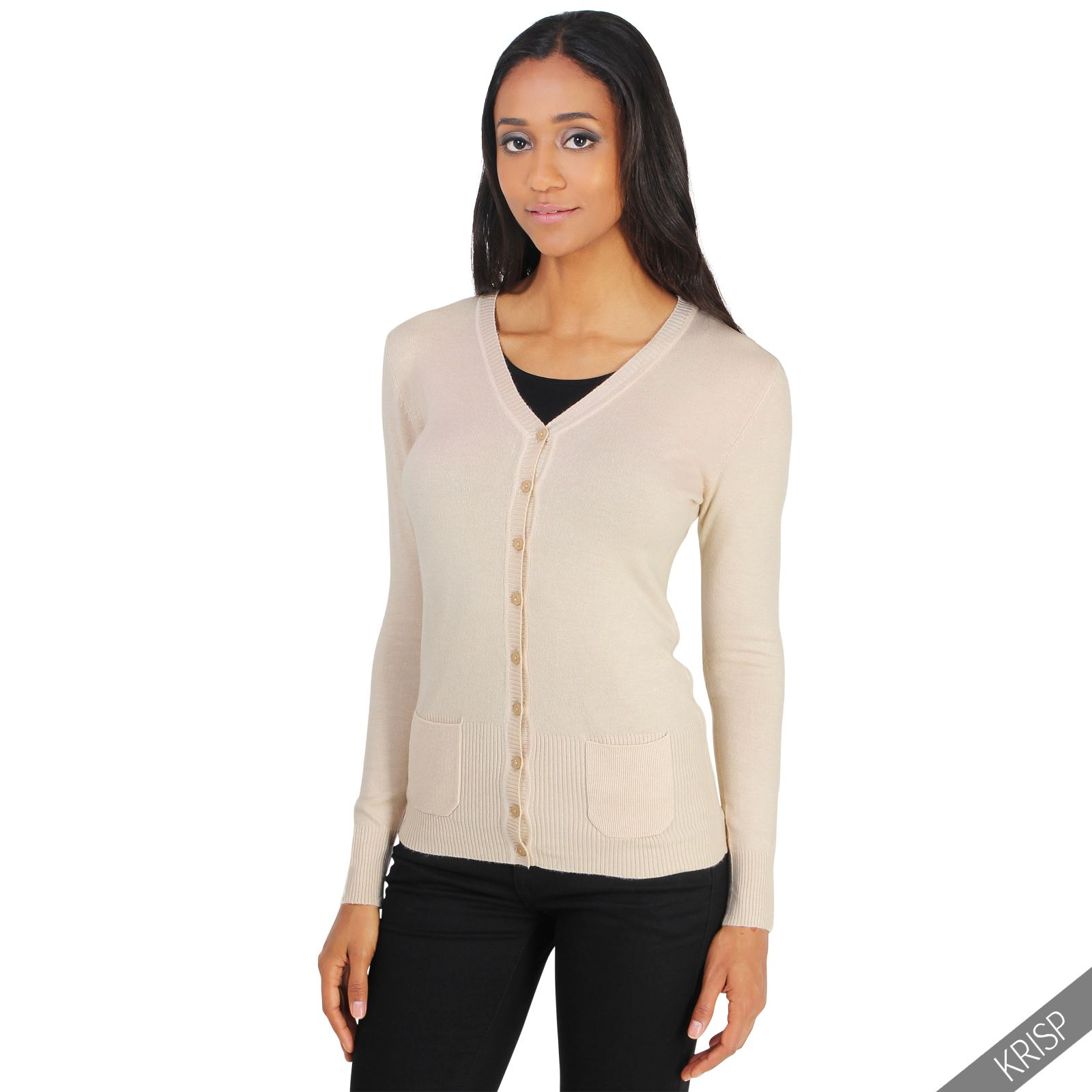 Womens Cl Ic Cashmere Cardigan Soft Knit On Sweater
