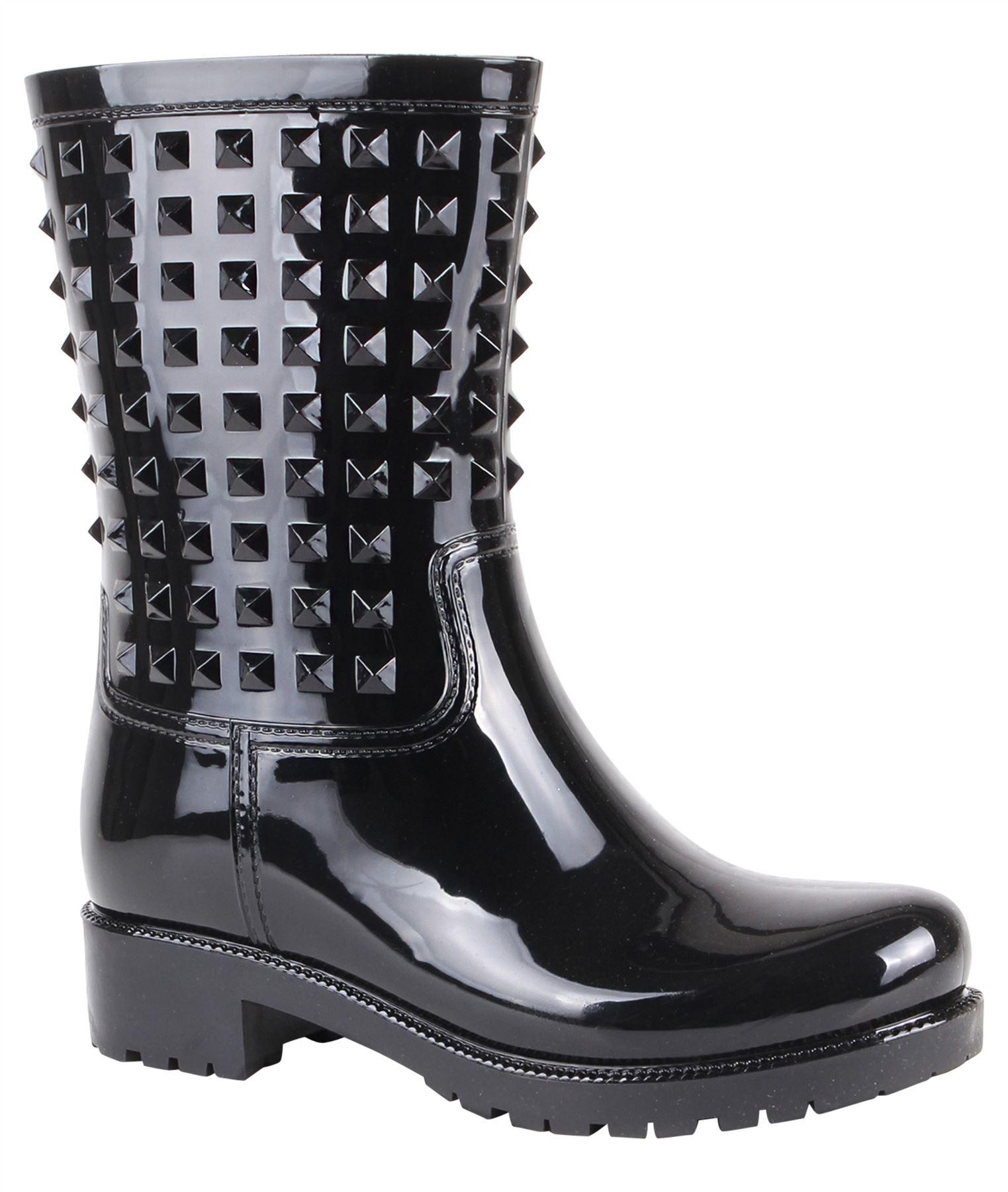 Botas-Agua-Mujer-Barata-Original-Botines-Moda-Comodas-Calzado-Elastico-Juveniles miniatura 24