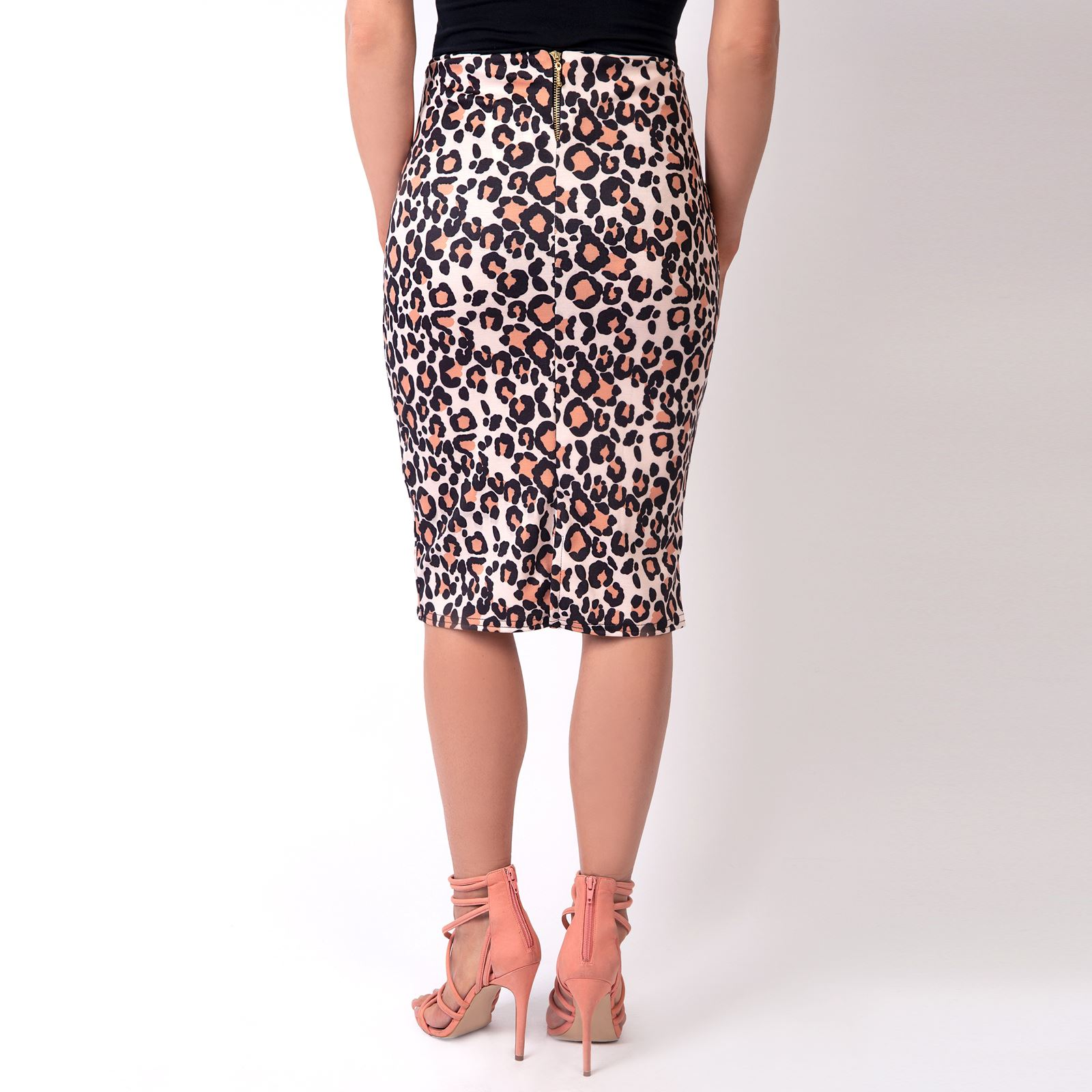 Womens-Midi-Pencil-Skirt-Bodycon-Ladies-Stretch-Fit-Printed-Knee-Long-Work-Party thumbnail 9