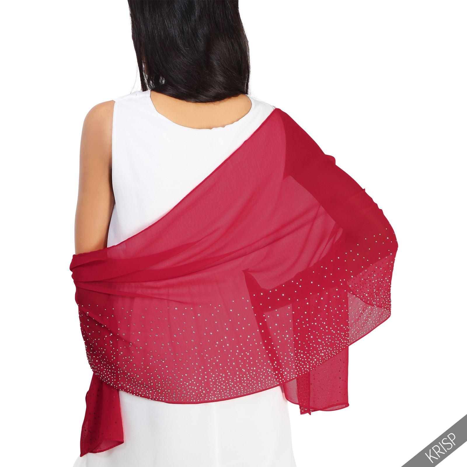 lightweight gem diamante embellished scarf stole wrap