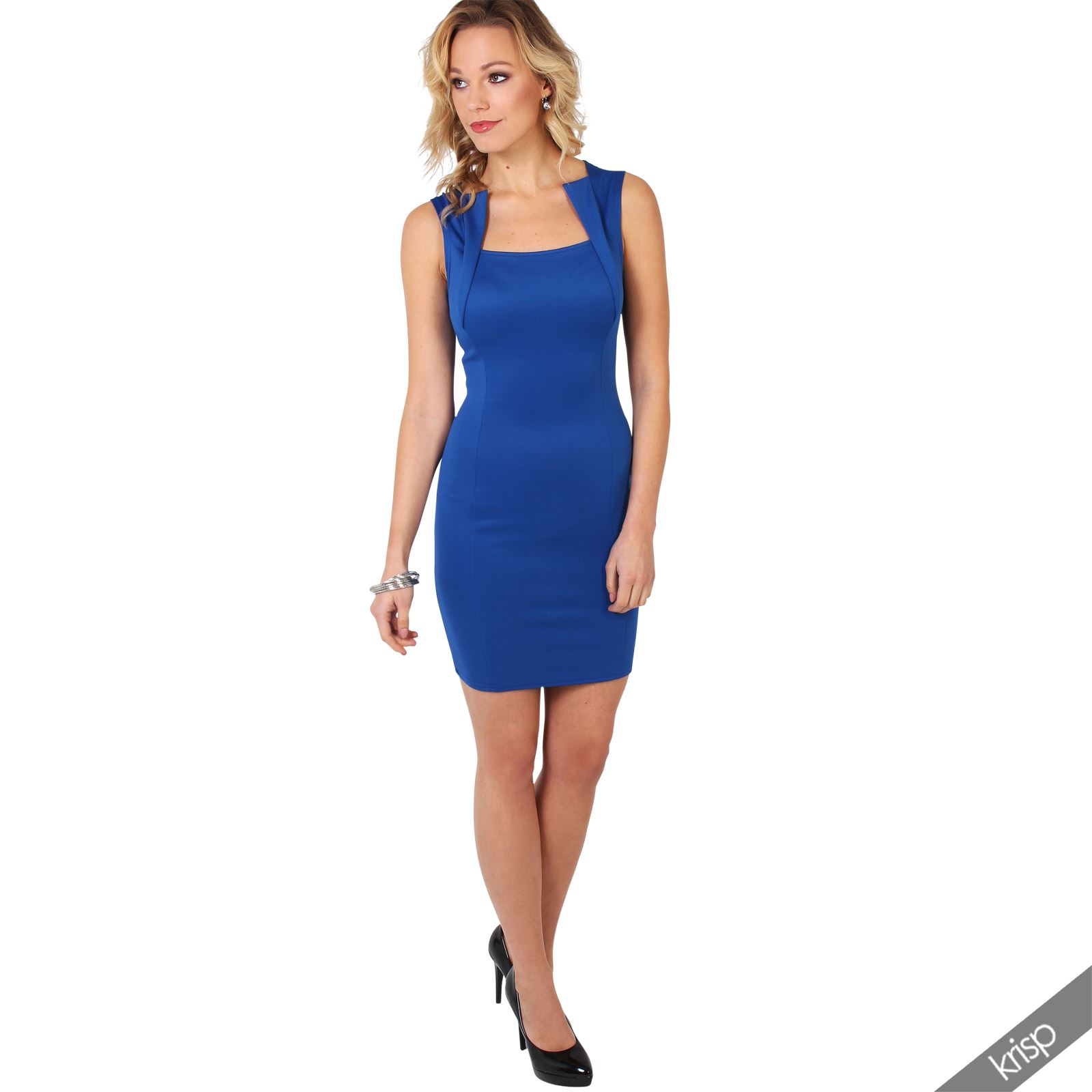 Ladies-Fashion-Bodycon-Dress-Sleeveless-Backless-Party-Fitted-Cocktail-Pencil thumbnail 18