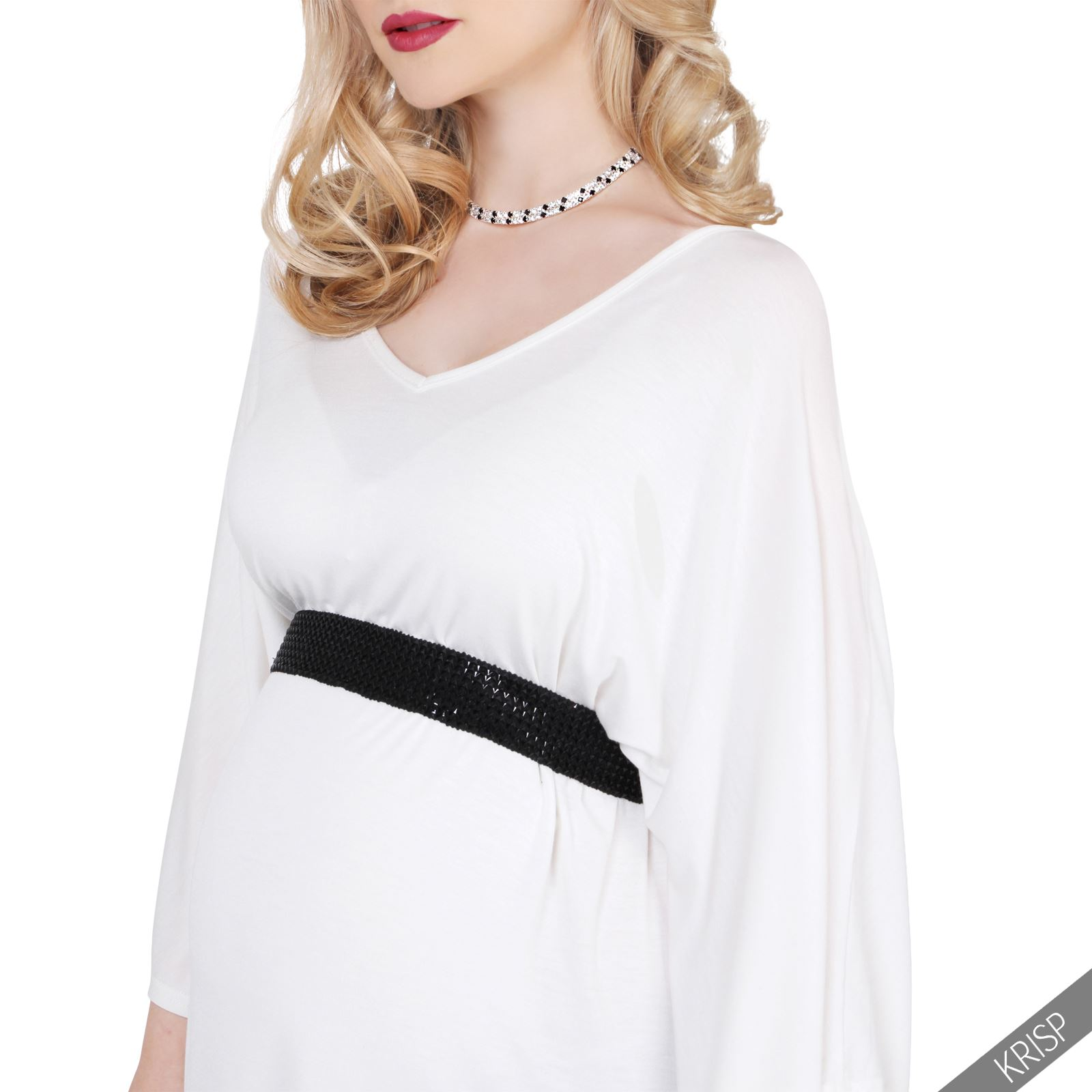 Maternity womens v neck tunic top pregnancy wear loose for Best v neck t shirts