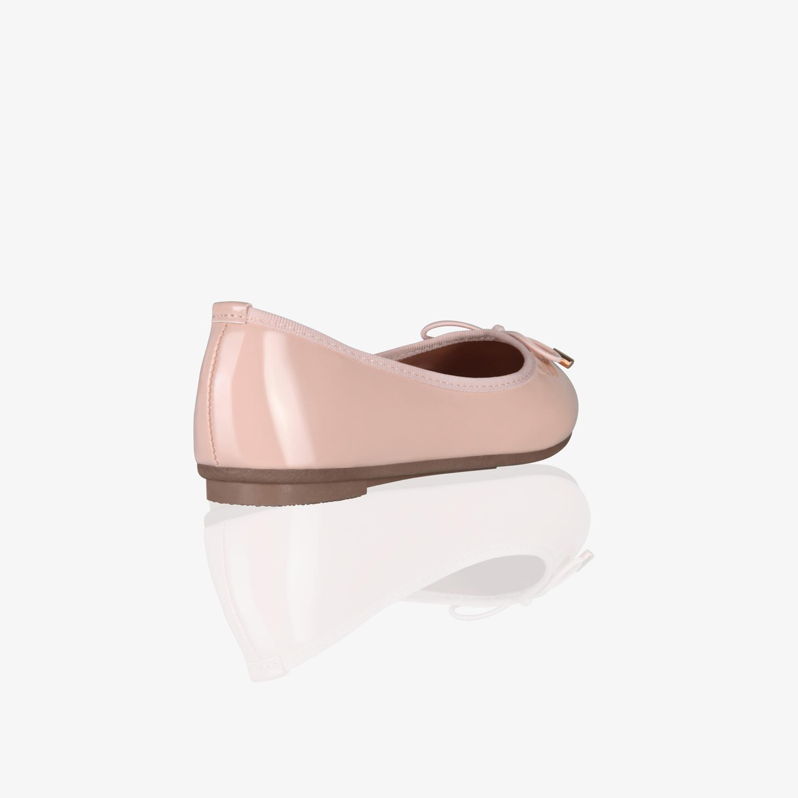 Womens-Ladies-Patent-Flat-Shoes-Ballerina-Ballet-Dolly-Court-Pumps-Slip-On-Bow thumbnail 10