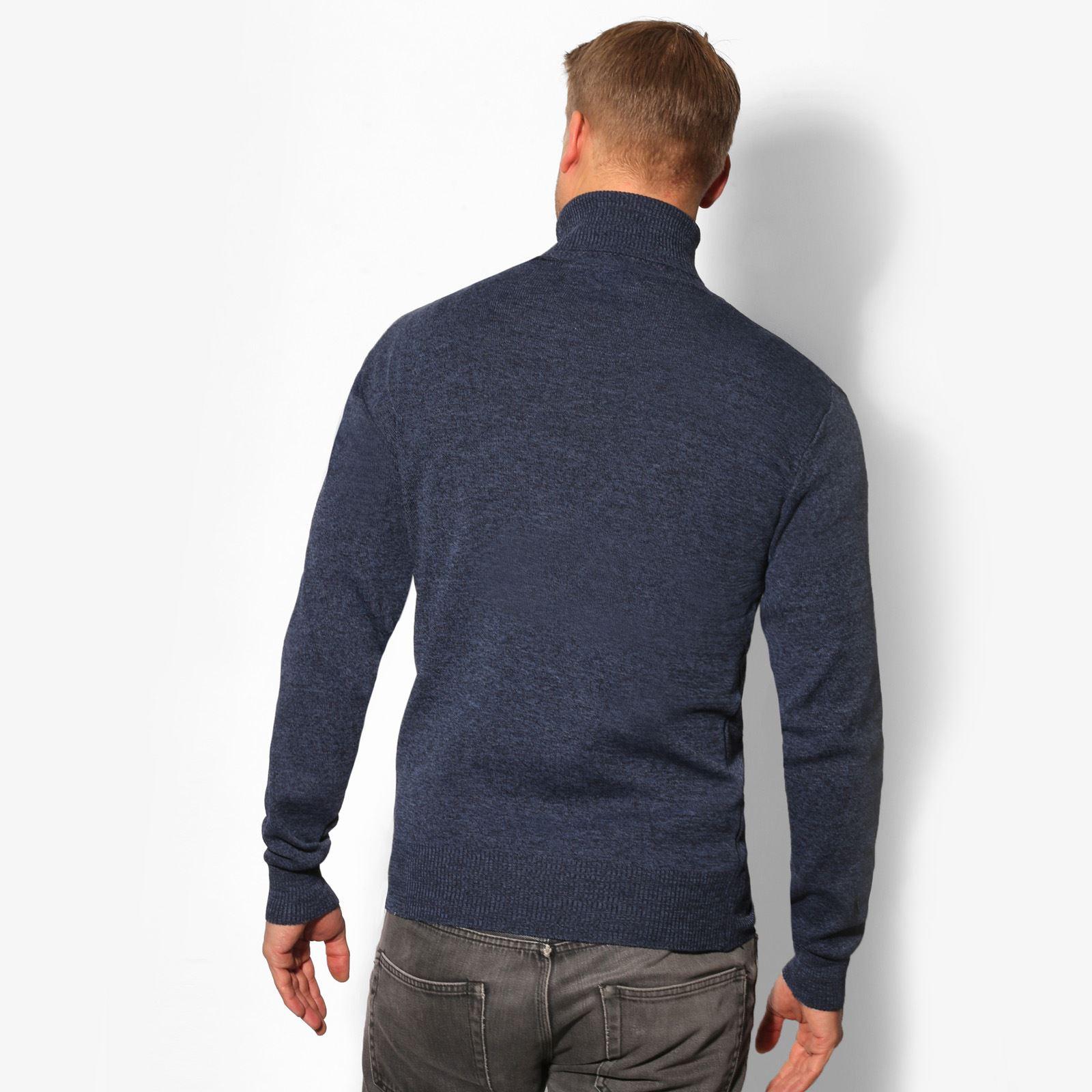 Jersey-Hombre-Lana-Caliente-Barato-Cuello-Vuelto-Alto-Talla-Grande-Frio-Invierno miniatura 3