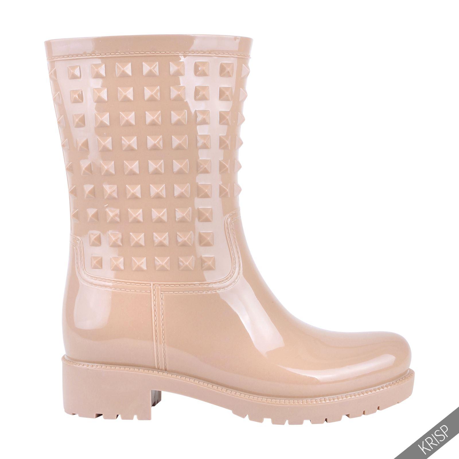 Botas-Agua-Mujer-Barata-Original-Botines-Moda-Comodas-Calzado-Elastico-Juveniles miniatura 9