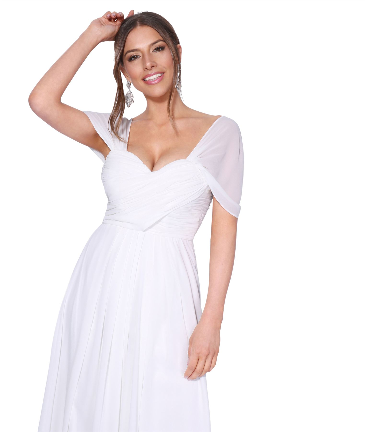 Womens-Formal-Evening-Wedding-Maxi-Prom-Dress-Long-On-Off-Shoulder-Ball-Gown thumbnail 61