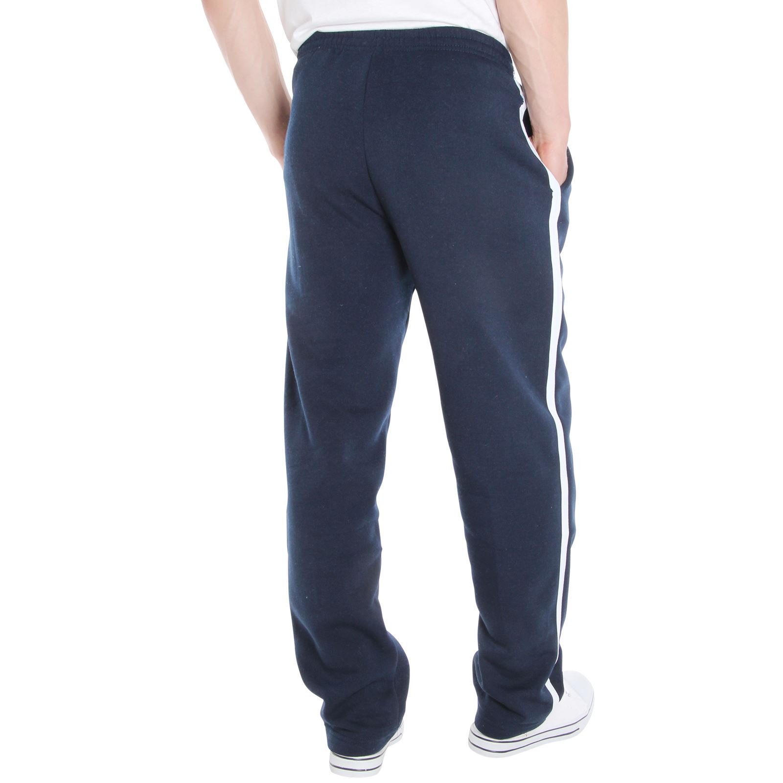 Mens-Tracksuit-Bottoms-Striped-Joggers-Jogging-Trousers-Fleece-Pants-Casual-Work thumbnail 37