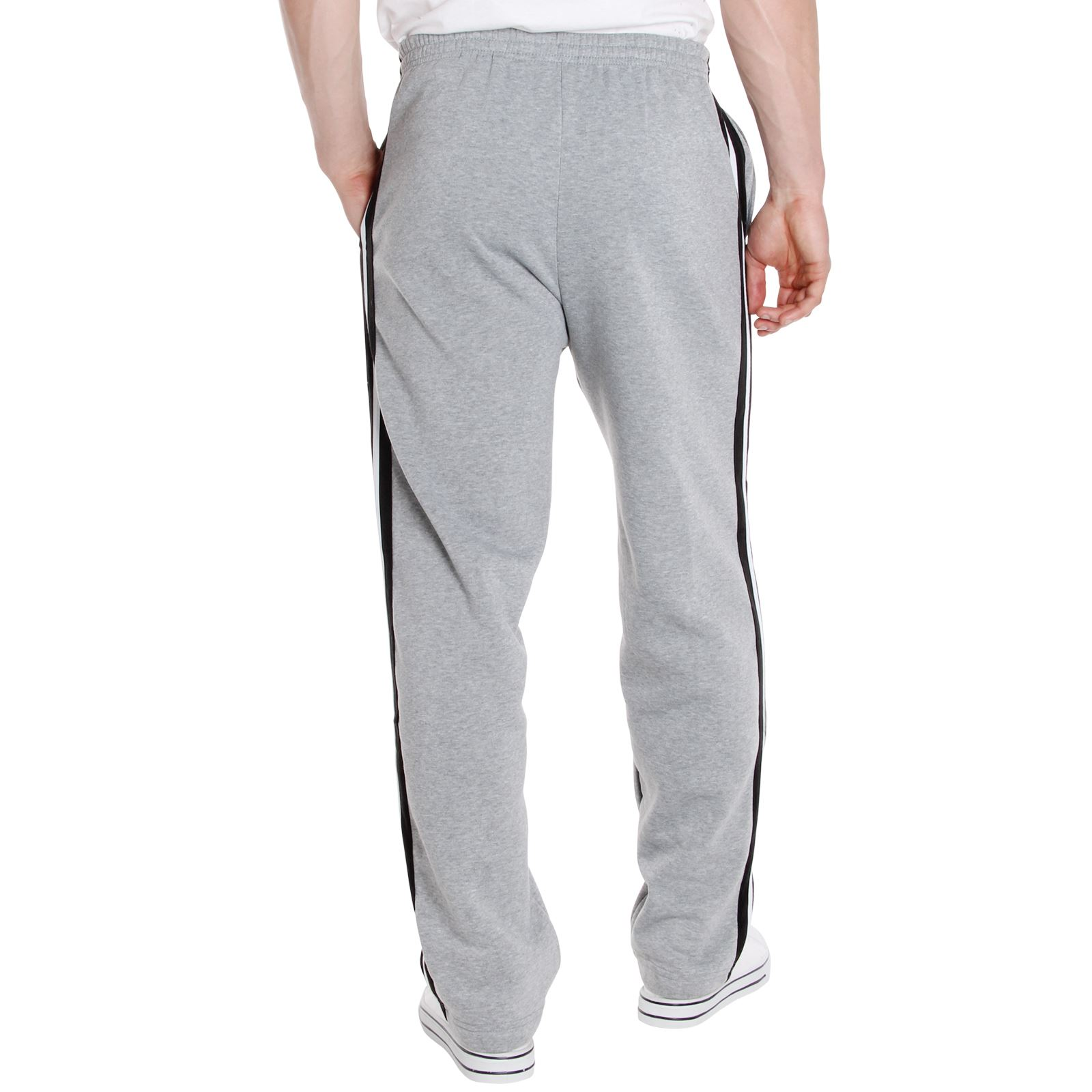 Mens-Tracksuit-Bottoms-Striped-Joggers-Jogging-Trousers-Fleece-Pants-Casual-Work thumbnail 24