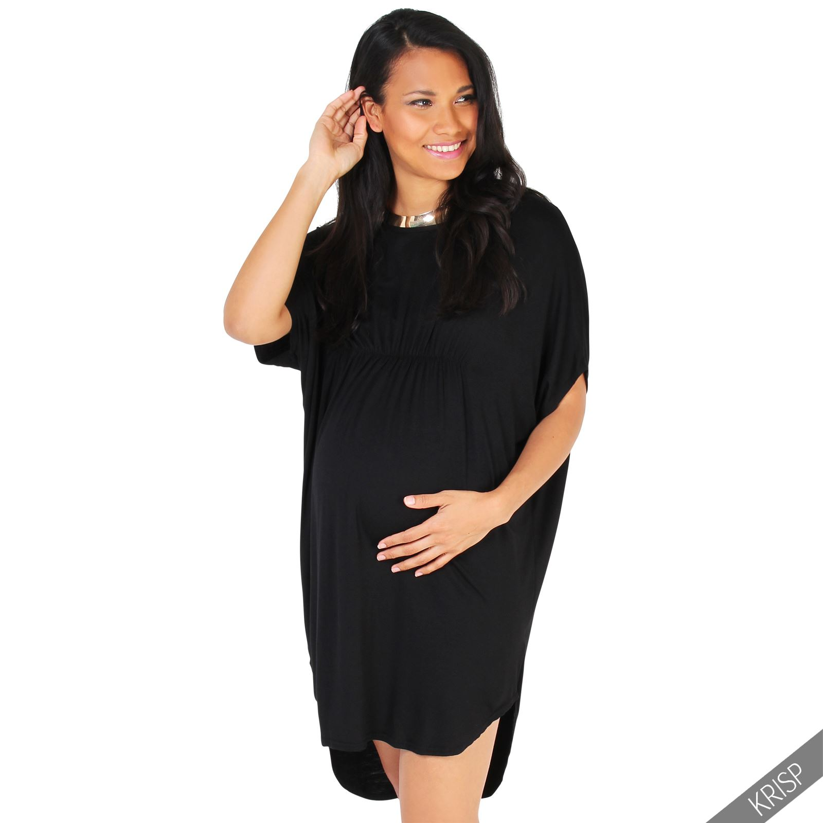 Maternity womens empire line short sleeve top long loose t shirt maternity womens empire line short sleeve top long ombrellifo Images