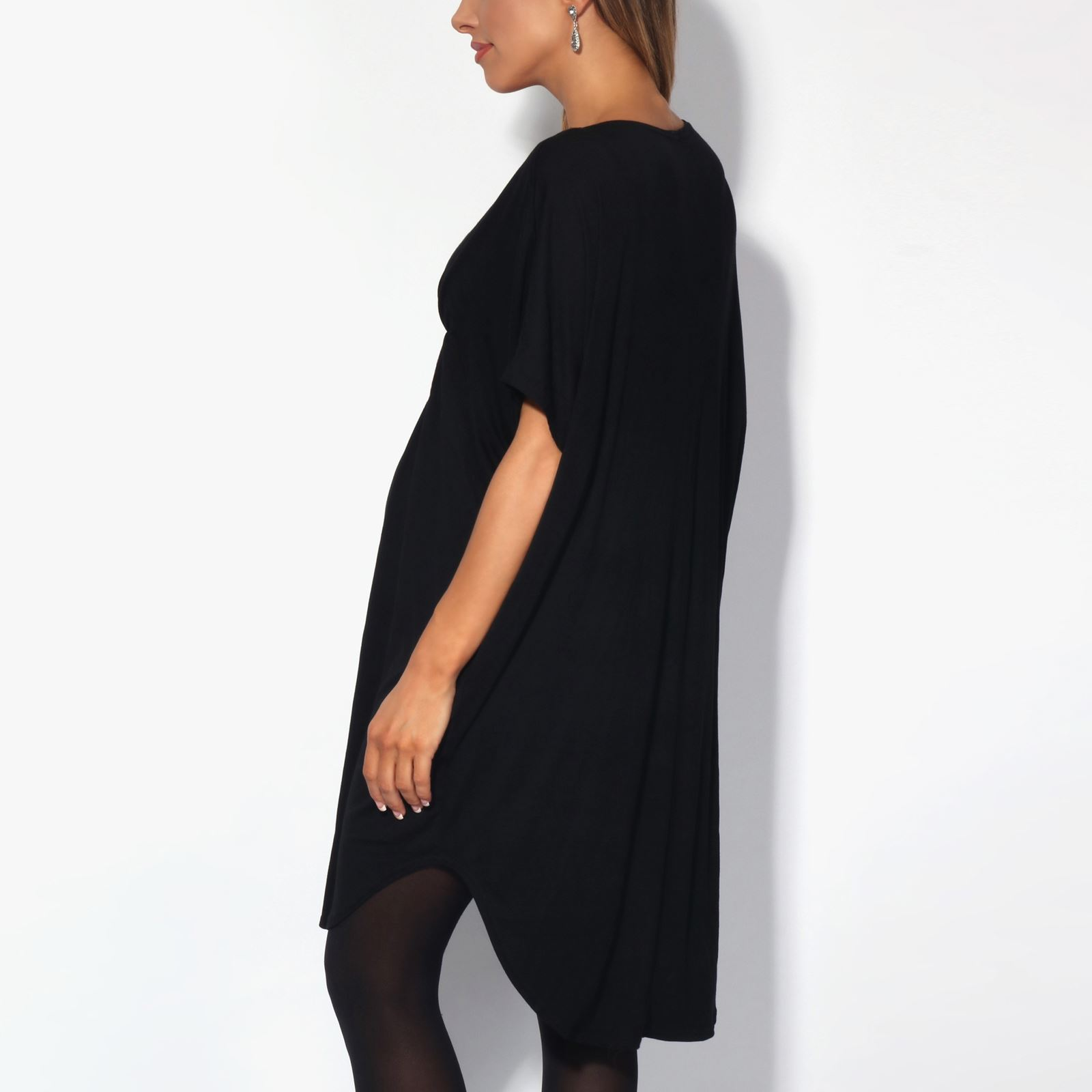 Maternity-Dress-Empire-Line-Top-Long-Loose-T-Shirt-Batwing-Tunic-Pregnancy-Plus thumbnail 4
