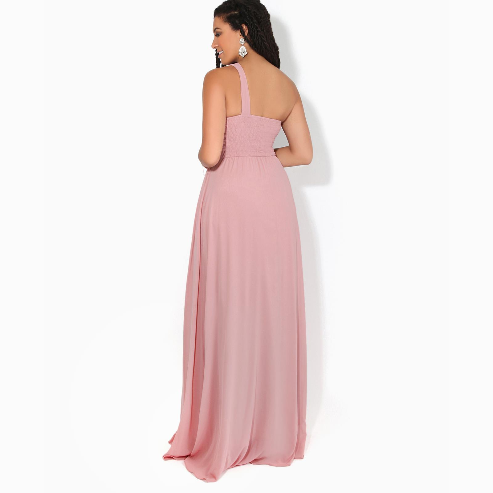 Womens-Wedding-Bridesmaid-Prom-Dress-Formal-One-Off-Shoulder-Long-Evening-8-18 thumbnail 24