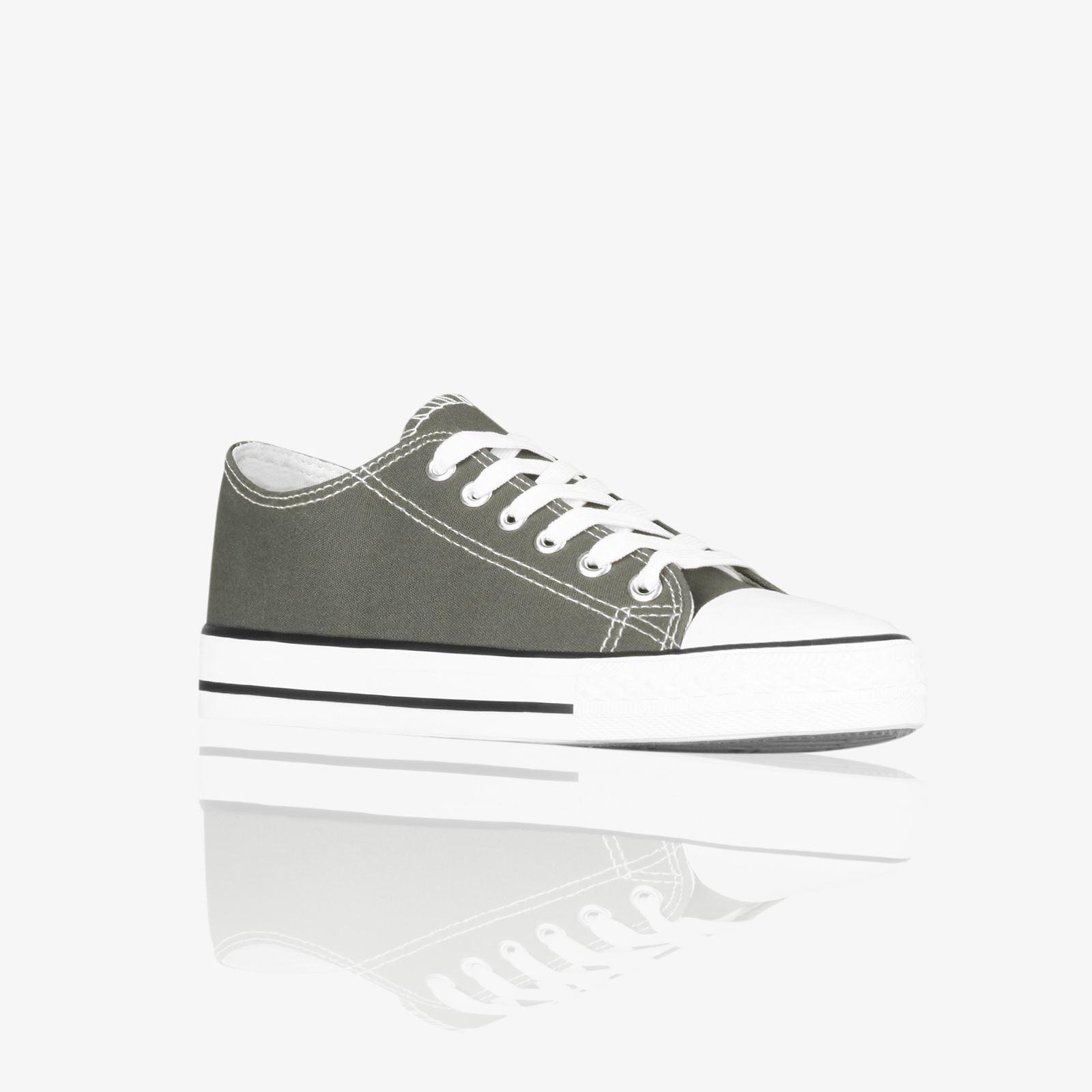 Zapatillas-Mujer-Casuales-Deportiva-Barata-Lona-Moda-Originales-Outlet-Tela-Moda miniatura 19