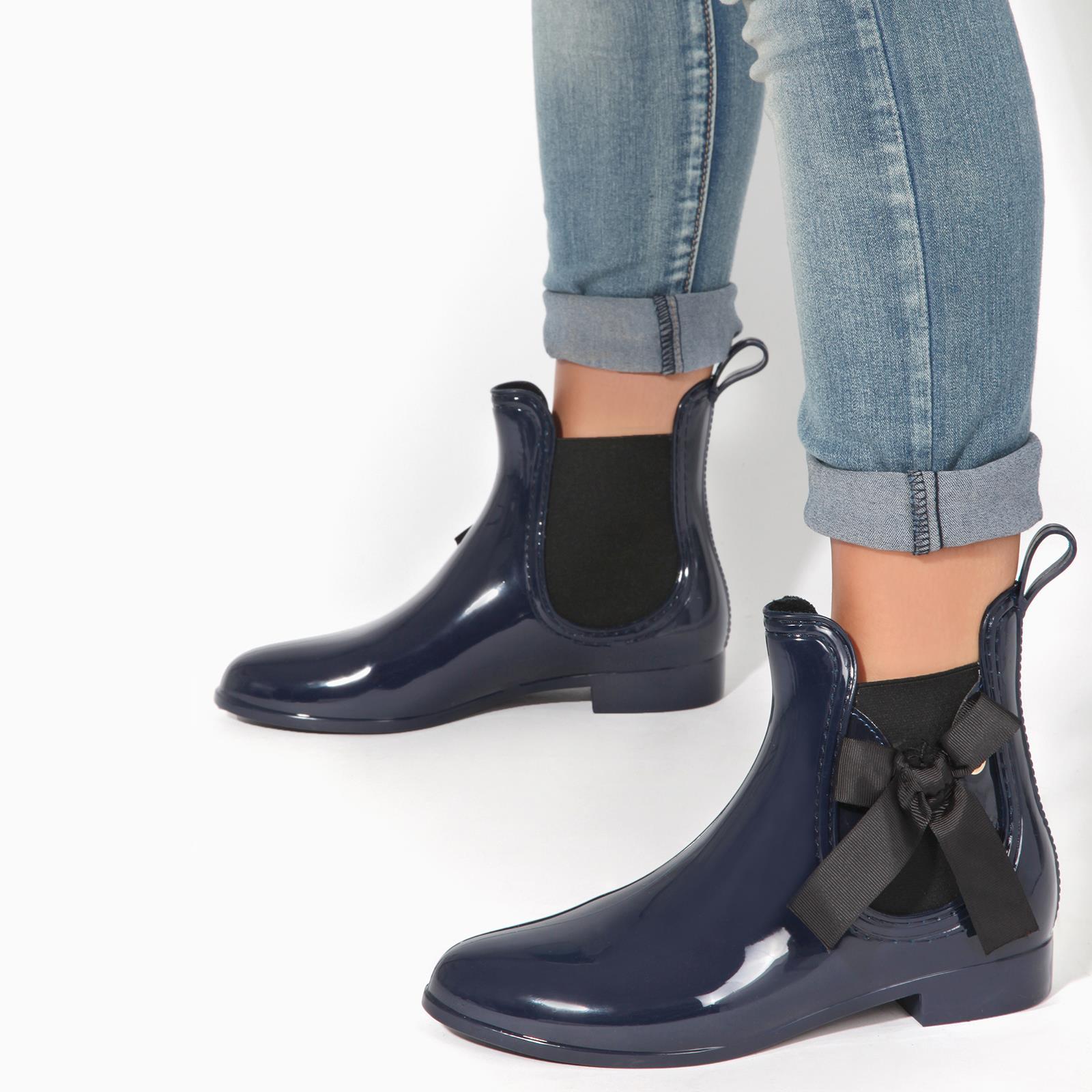 Botas-Agua-Mujer-Barata-Original-Botines-Moda-Comodas-Calzado-Elastico-Juveniles miniatura 6