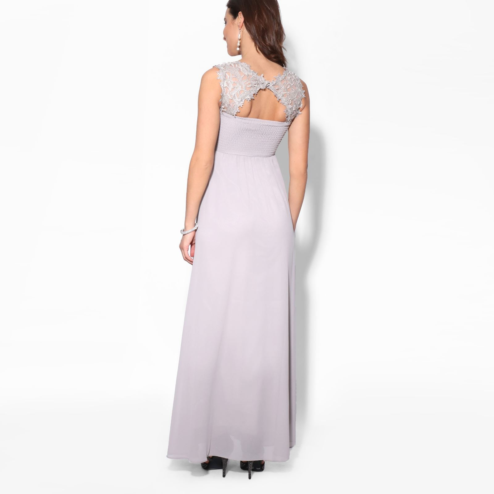 Women-Maxi-Dress-Ladies-Formal-Evening-Party-Cocktail-Lace-Chiffon-Gown-Party thumbnail 13