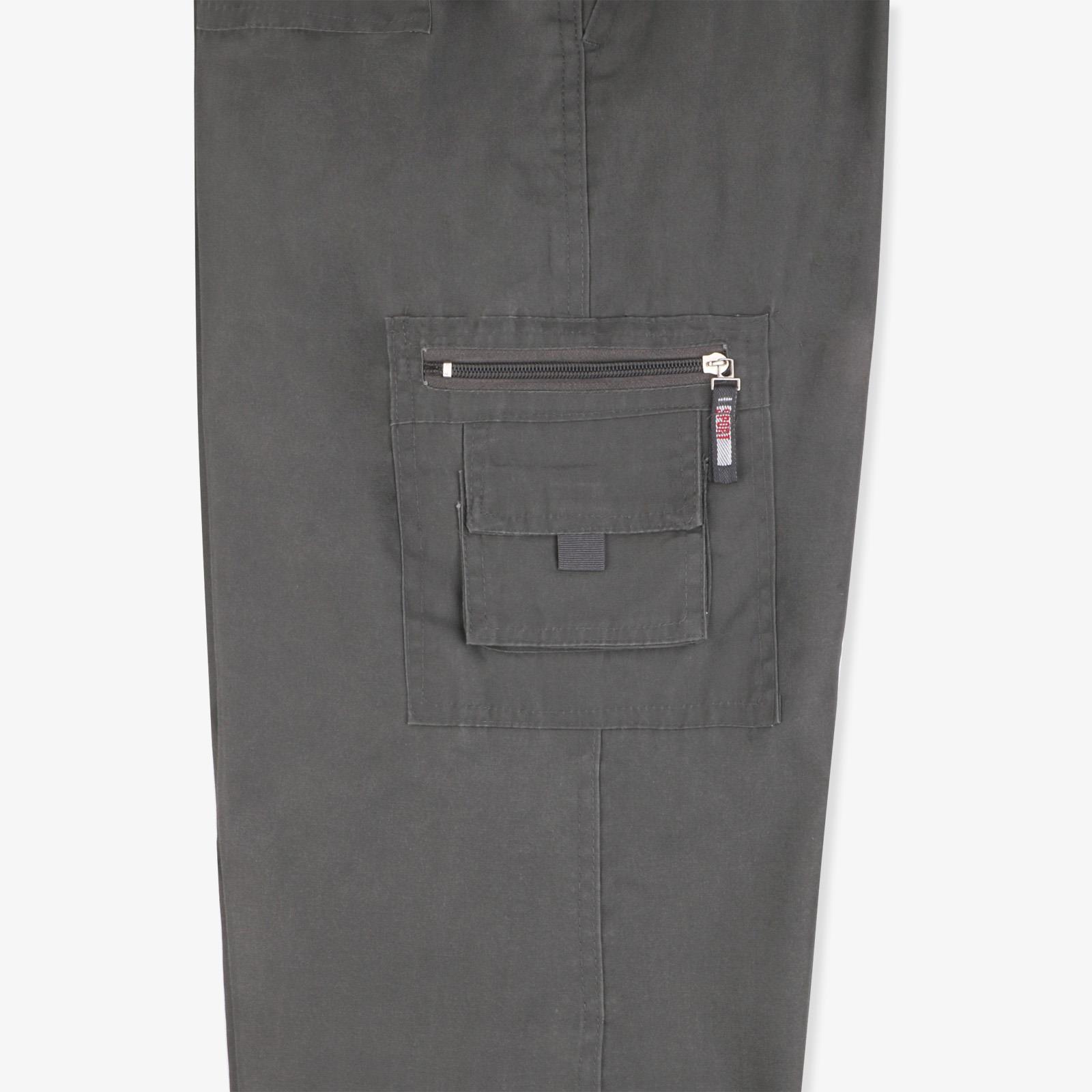 Pantalon-Homme-Cargo-Militaire-Ample-Poche-Grande-Taille-Elastique-Travail miniature 7